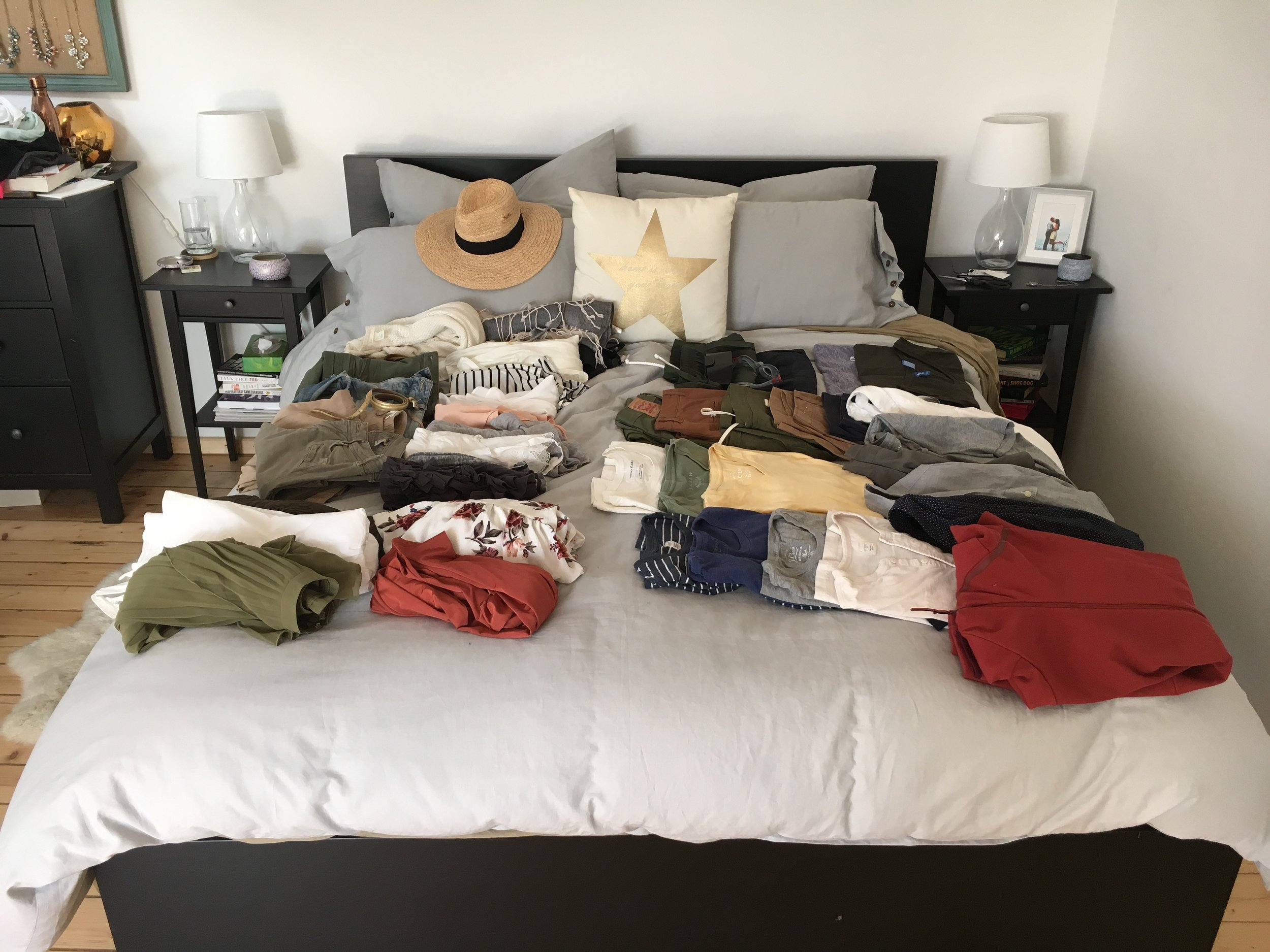 Does anyone else take over the entire bed packing?