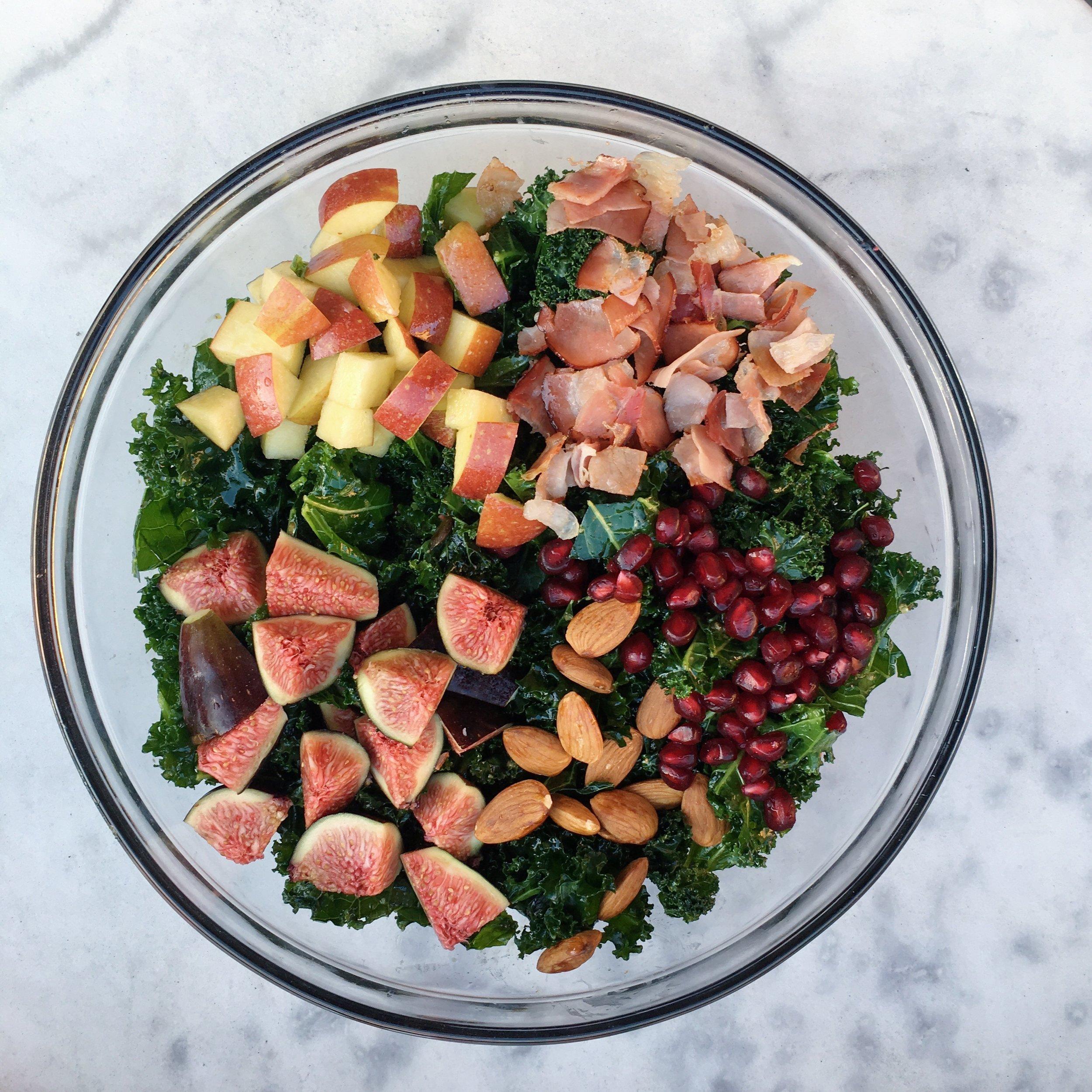 Fig & Crispy Proscuitto Kale Salad