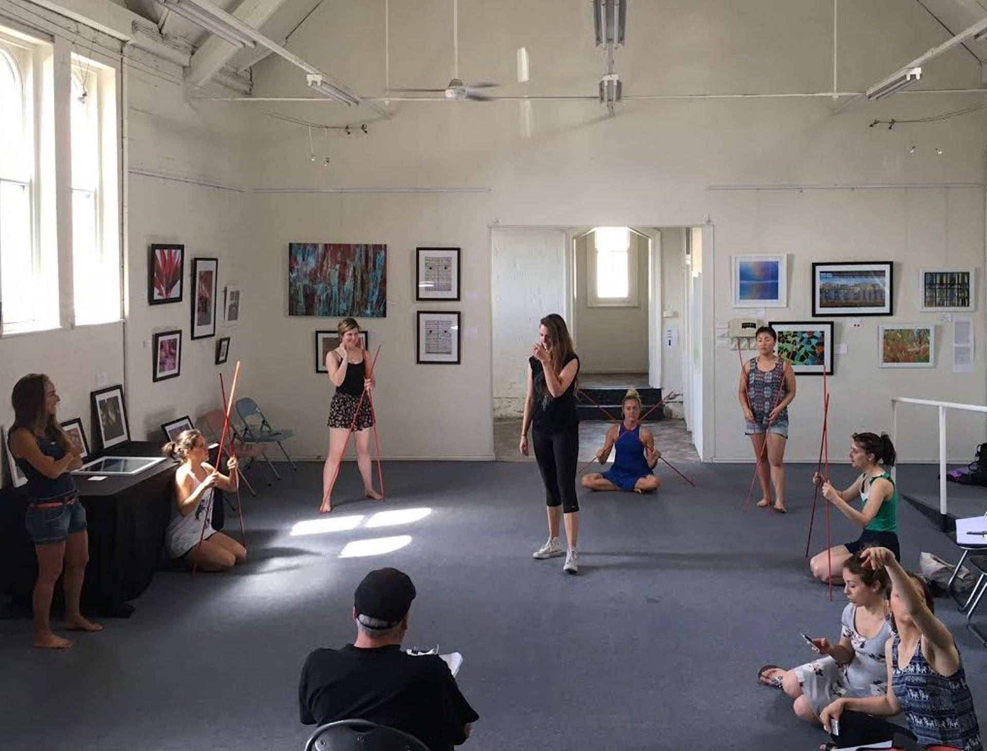 Rehearsal of the ensemble in our space in Richmond