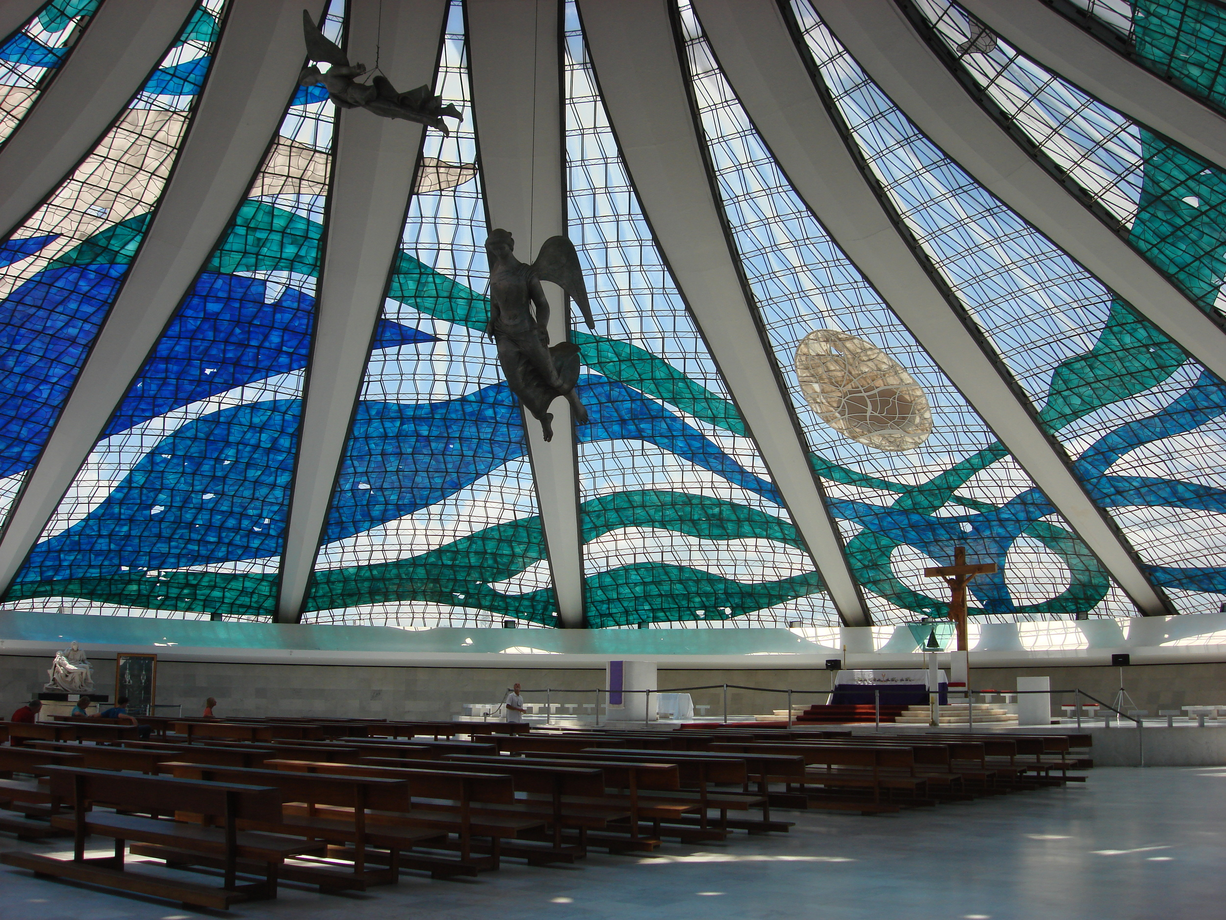 The famous Cathedral in Brasilia