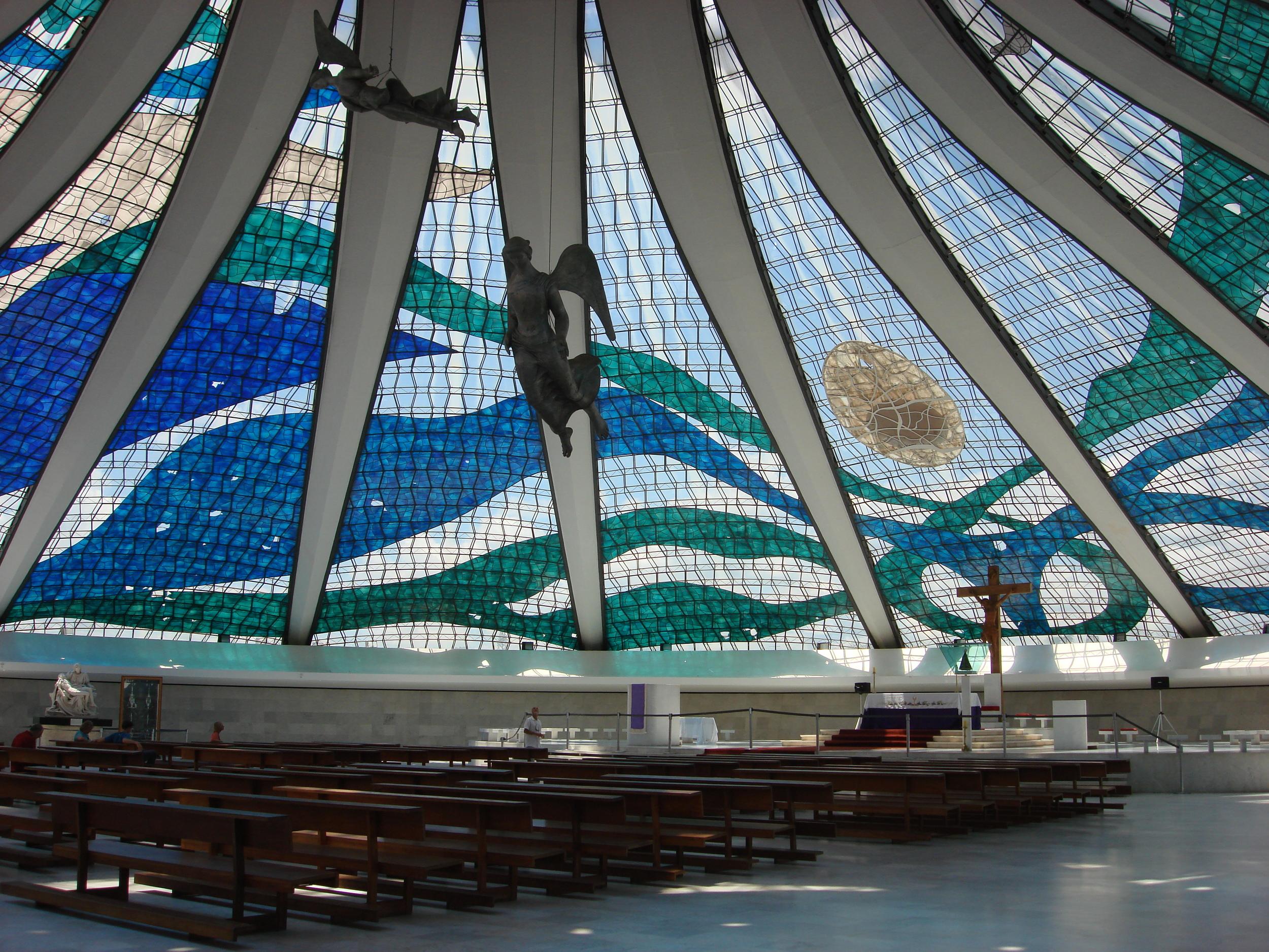 In der Kathedrale von Brasilia.