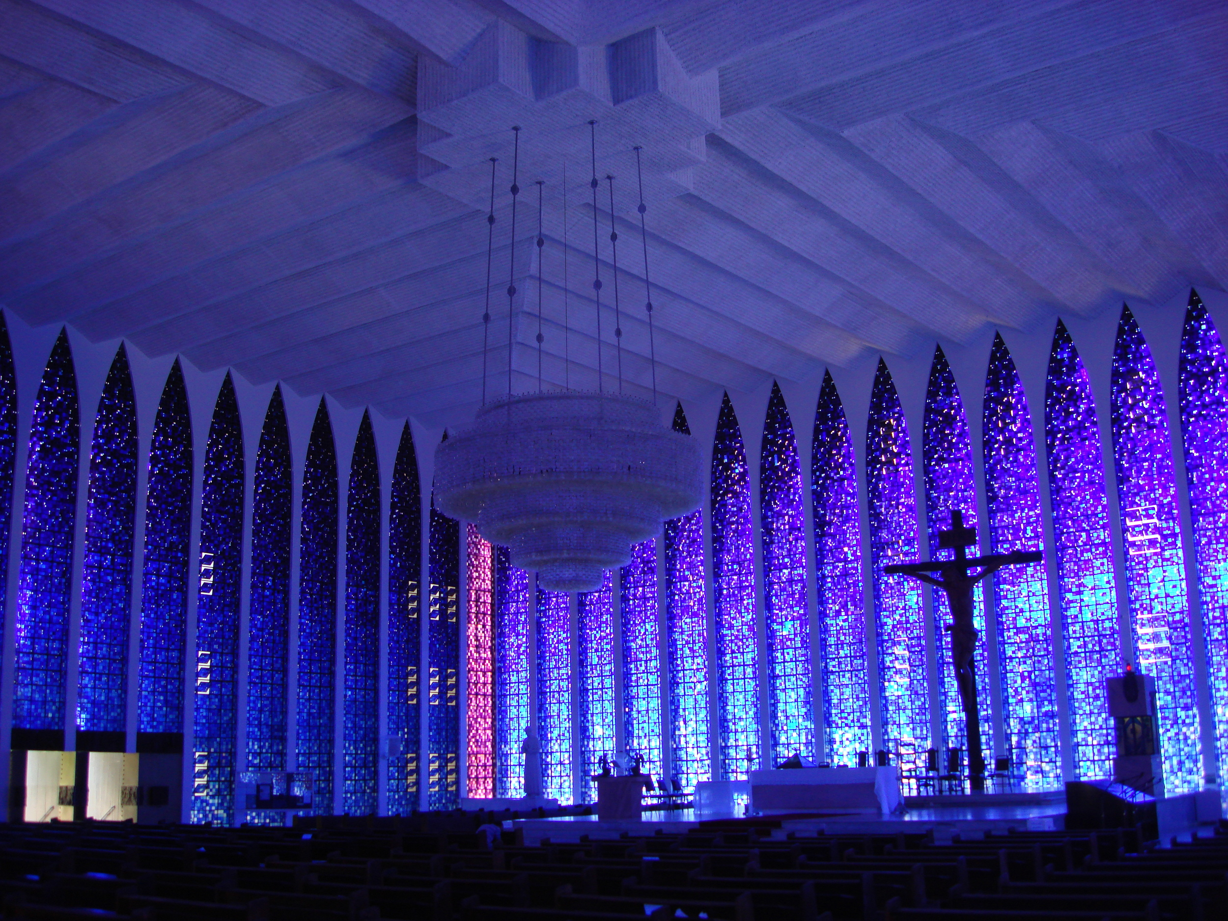 "The ""Blue Church"" in Brasilia."