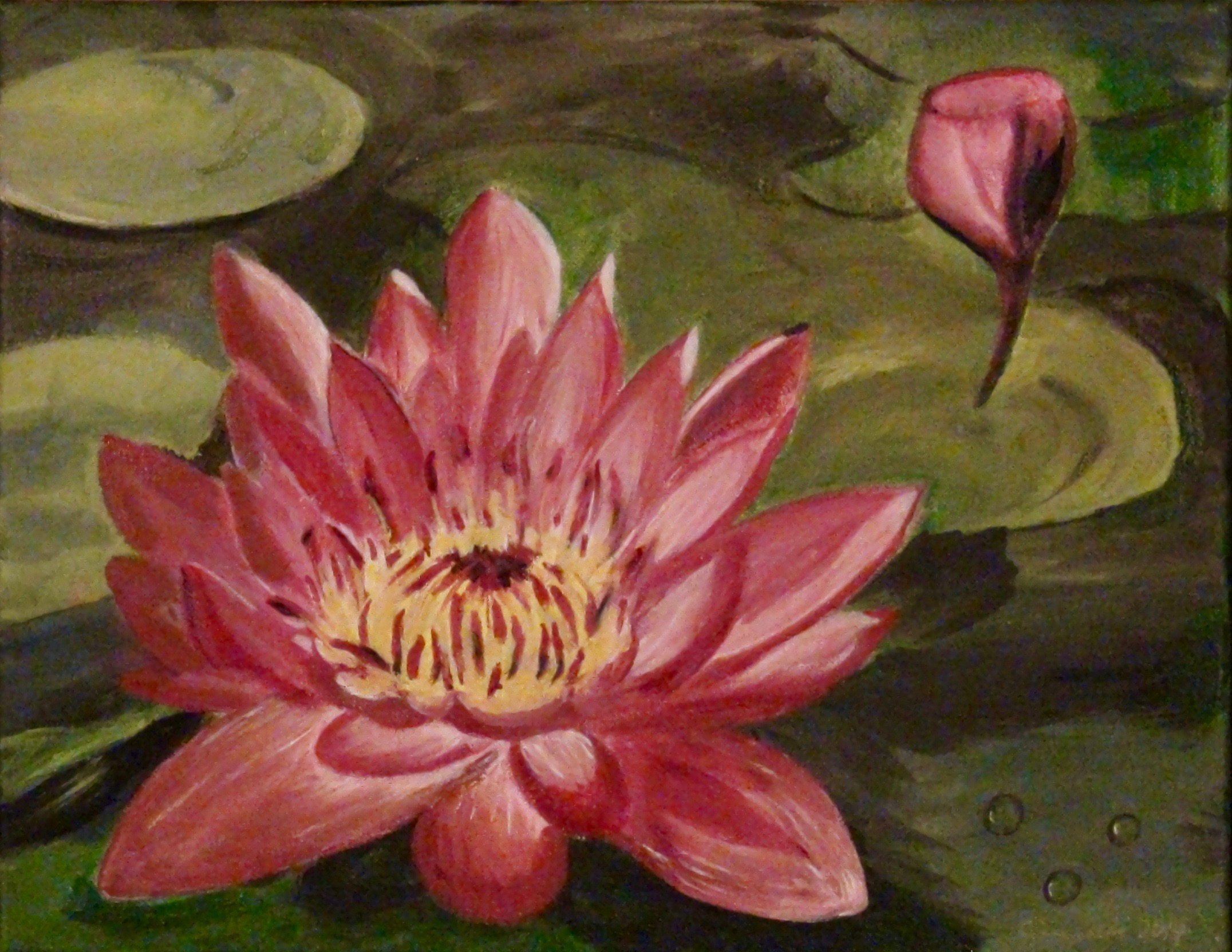 """Lotus Flower"" - (Oil, 11""x 14"" - 2014)"