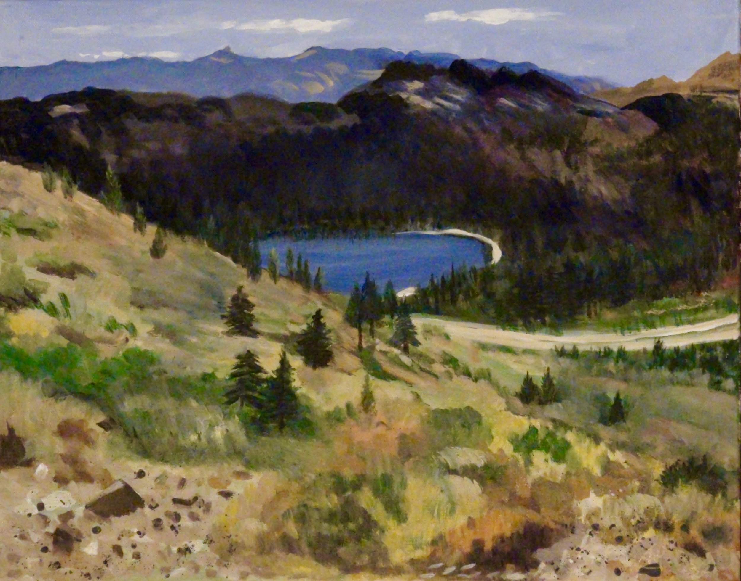"""Donner Lake"" - Oil, 20""x 16"" (2016)"