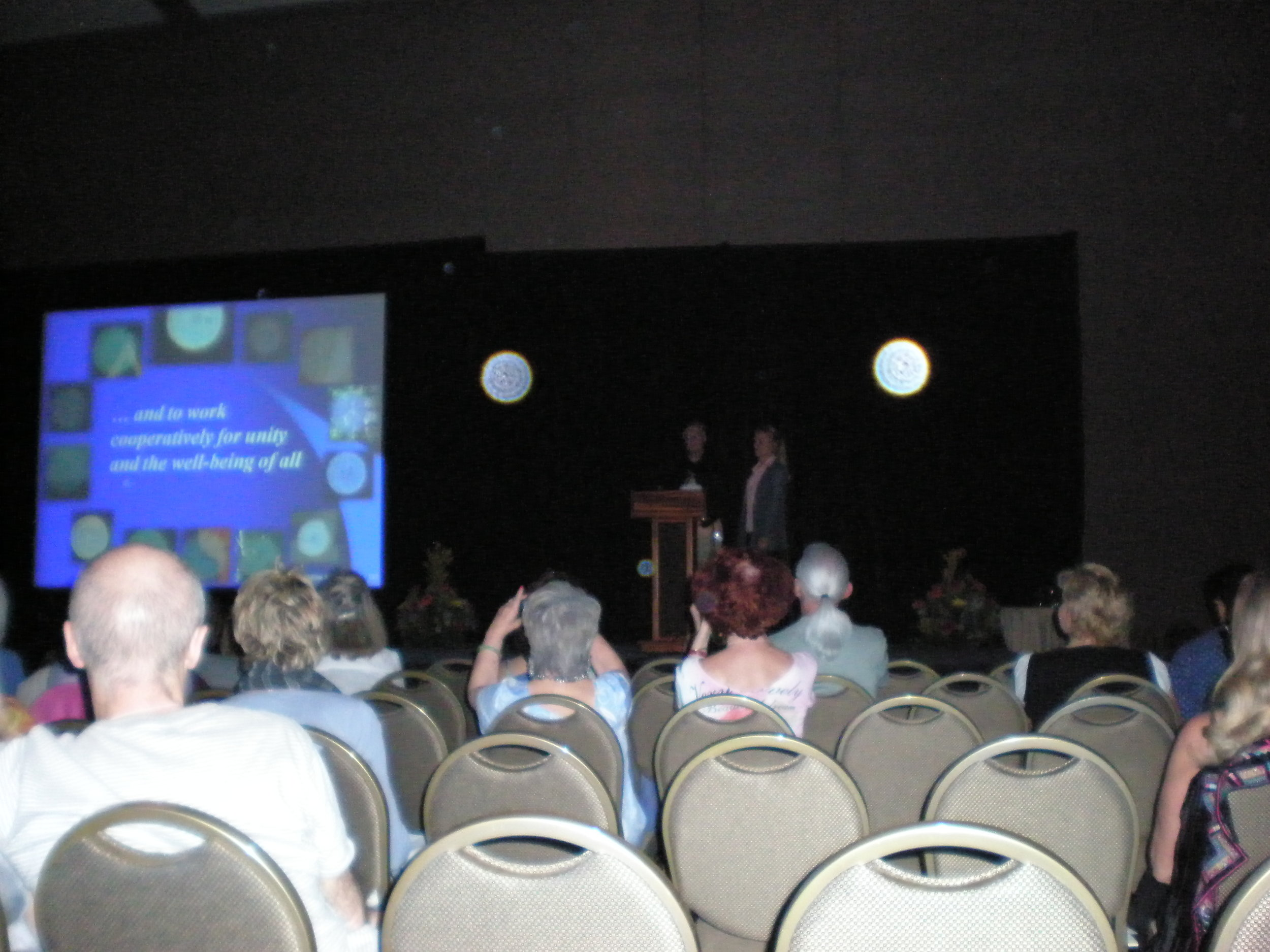 Photo 27: During our presentation at a conference on orbs.