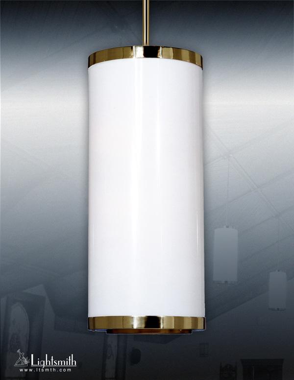 1412-PC - Polished Brass - White Opal Acyrlic