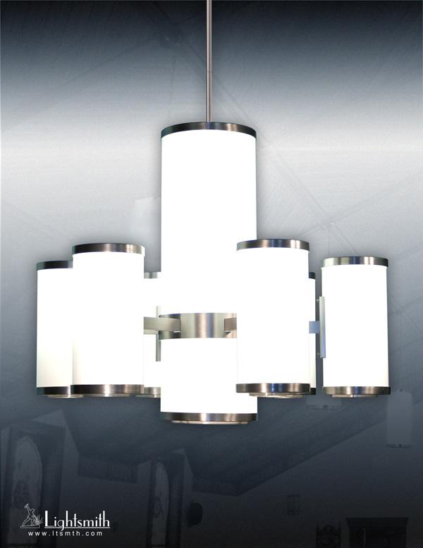 1448-CHC - Satin Nickel - White Opal Acrylic