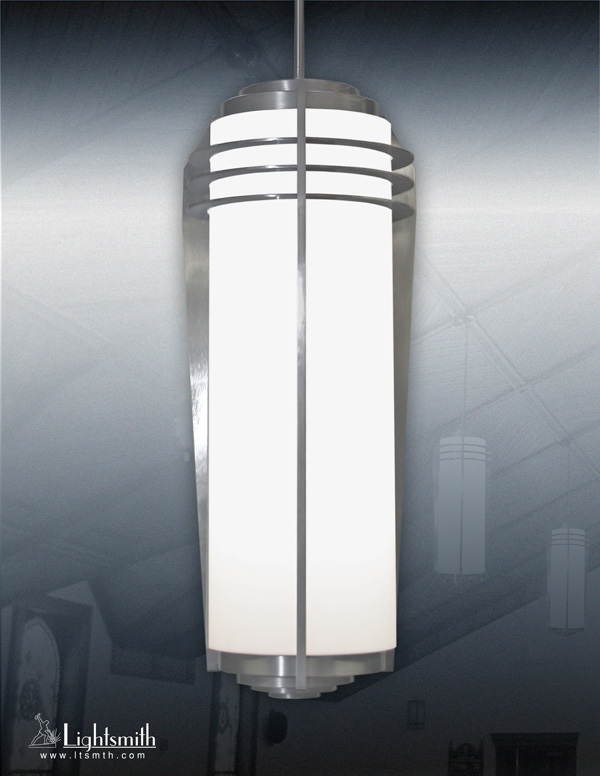 1916-PC - Satin Aluminum - White Opal Acrylic