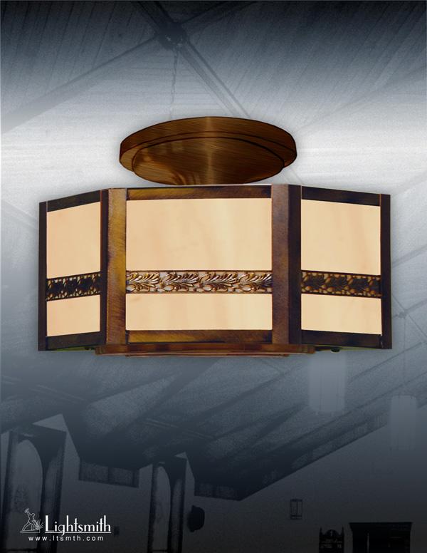 316-CT- Antique Brass - Beige Alabaster Acrylic