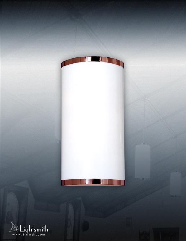 1410-WC - Polished Bronze - White Opal Acrylic