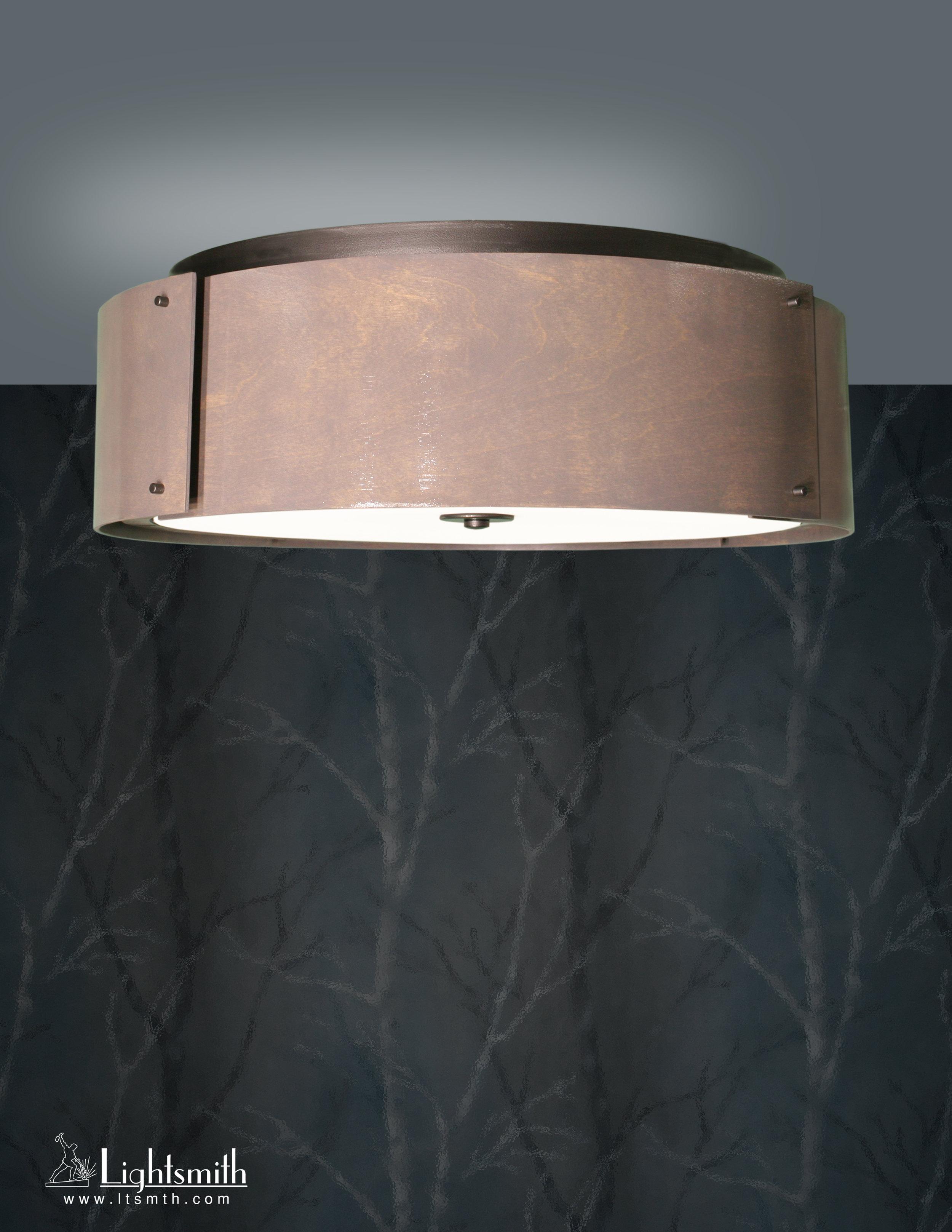 CL-10706 - Charcoal Gray Powdercoat- Gray Tint Wood Veneer -White Opal Acrylic