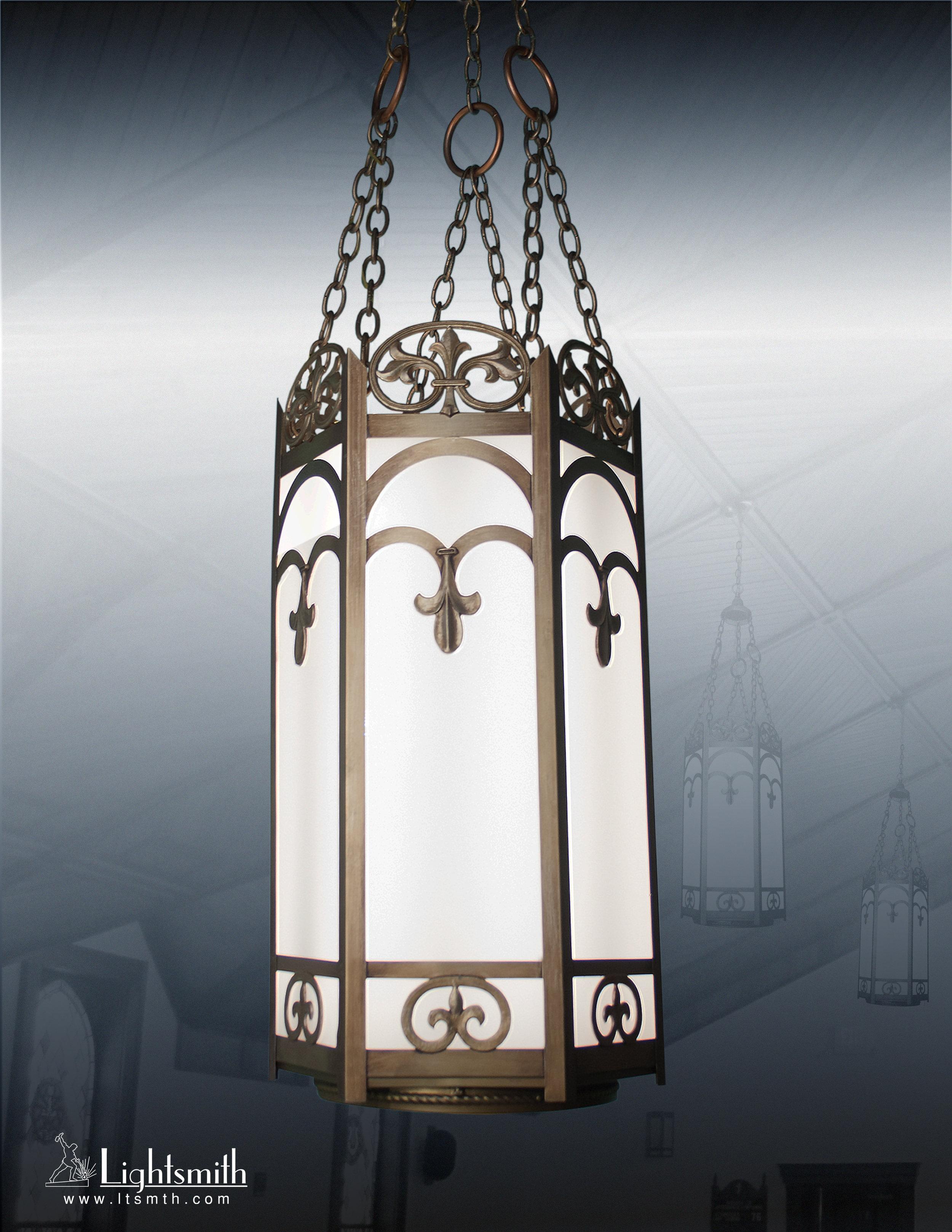 2114-PT - Medium Bronze - White Opal Glass