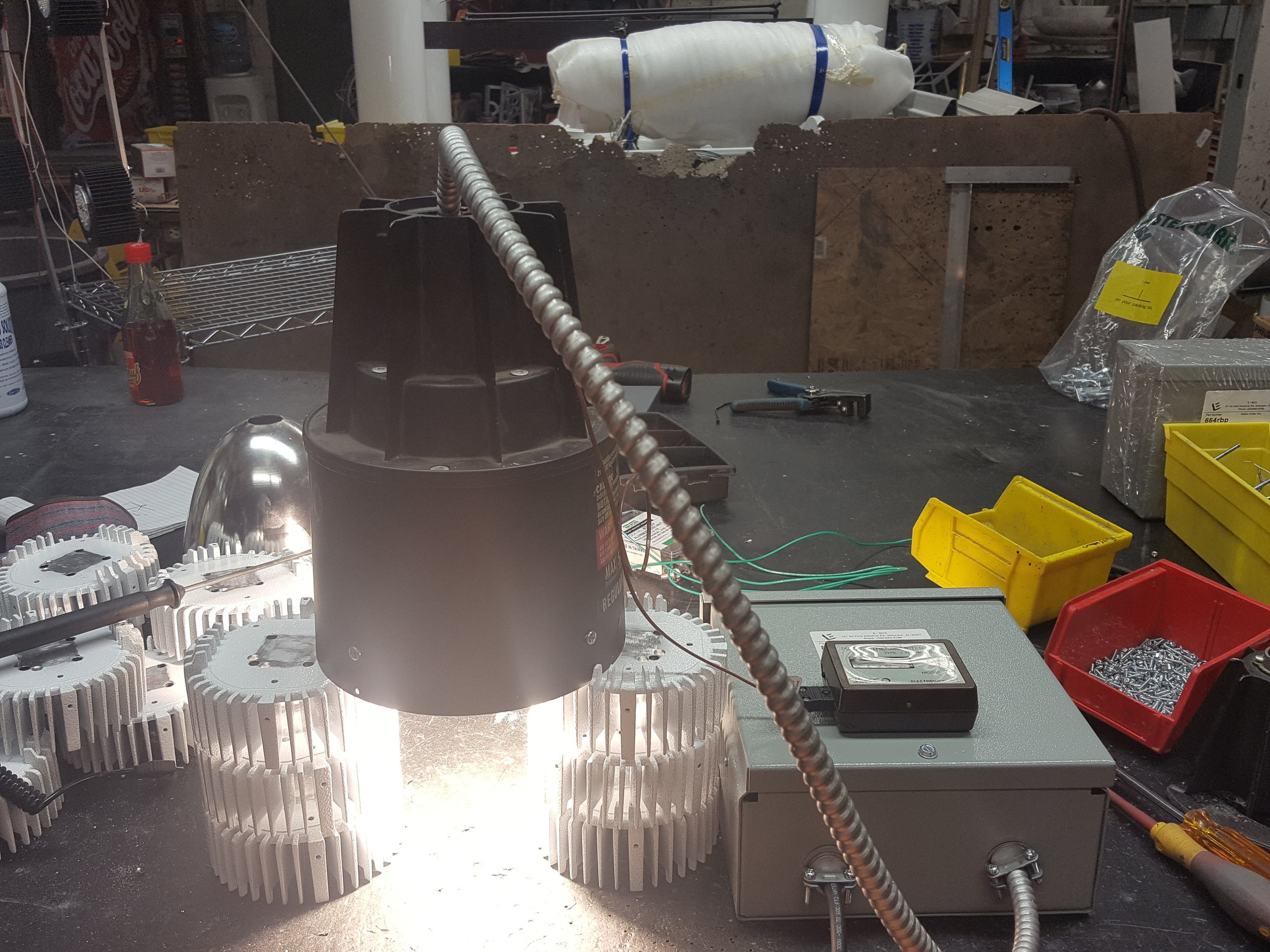 Led Energized for Heat Testing.