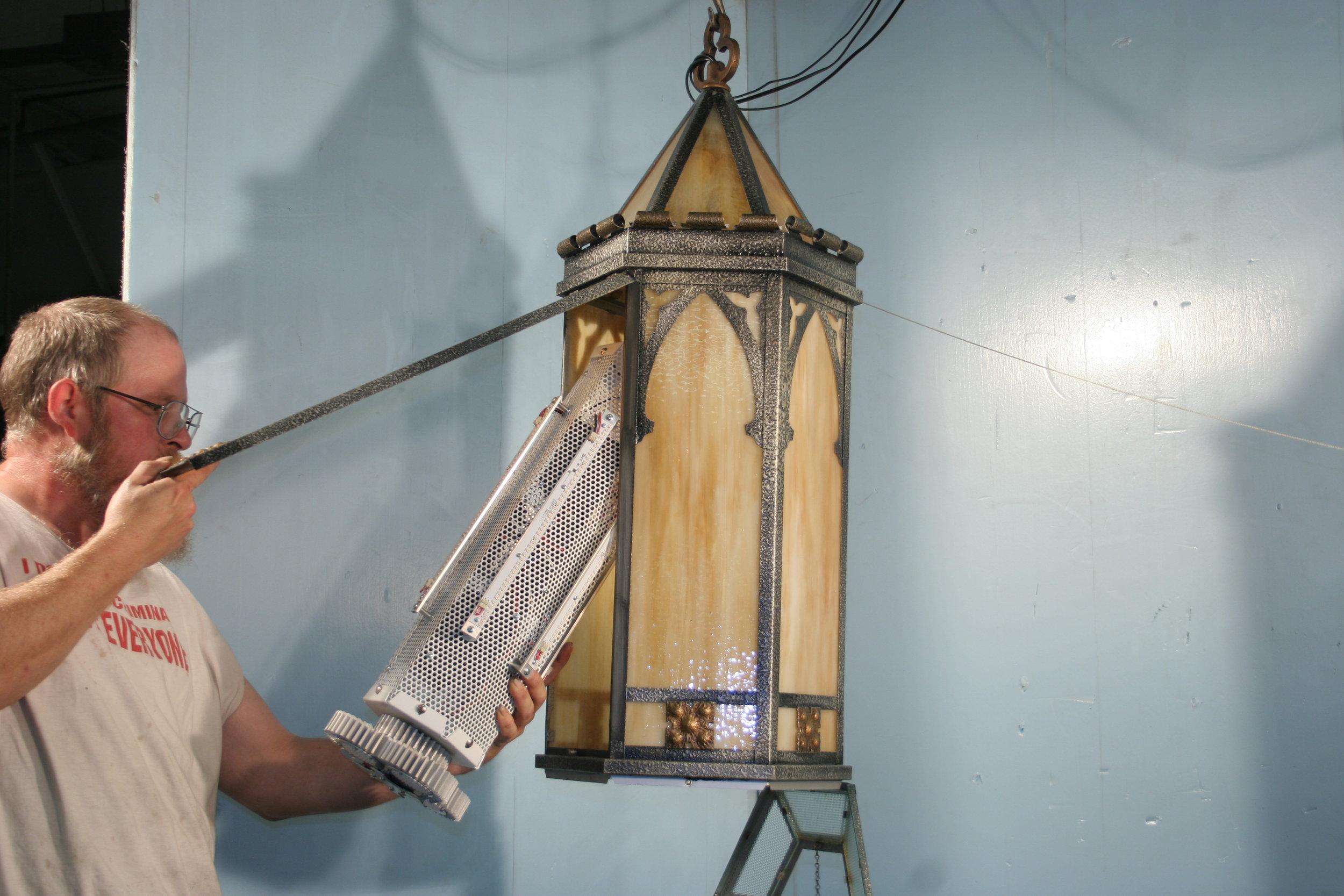 Installing the LED Cluster.