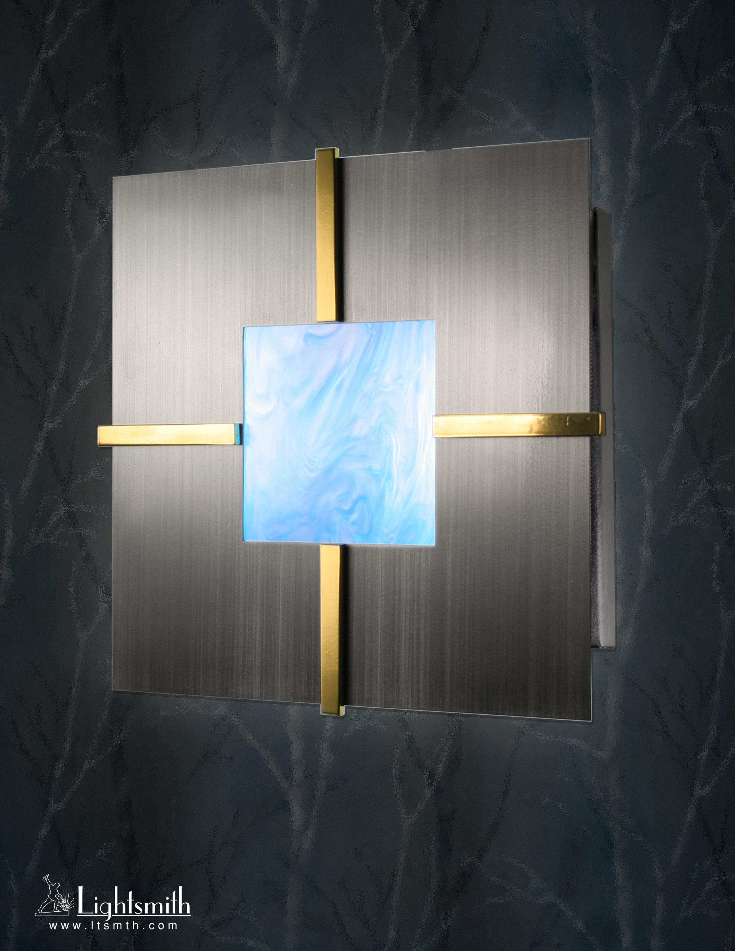 SC-8104 -Satin Nickel -Polished Brass - Blue Sky Acrylic