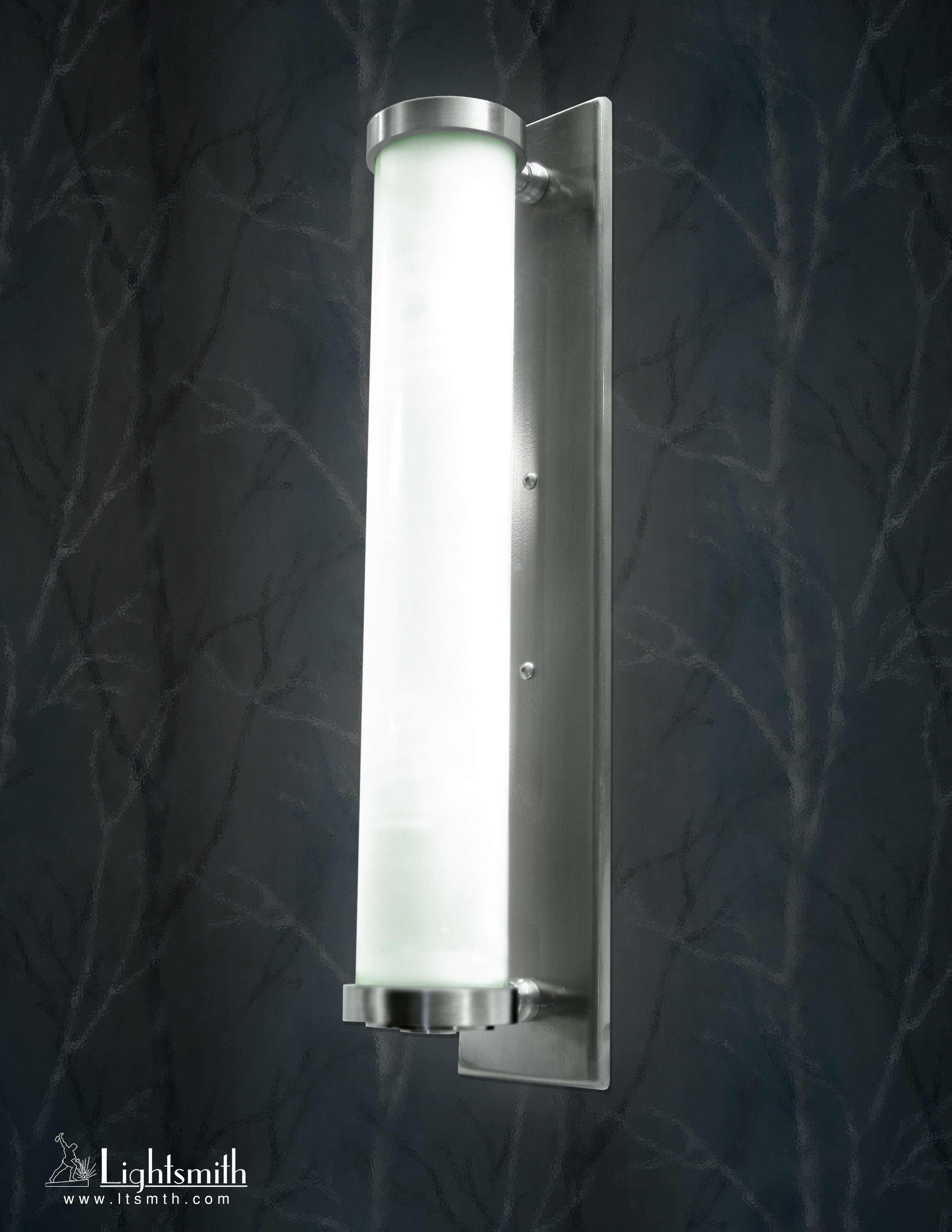 SC-7401 -Satin Stainless Steel -Green Edge Acrylic