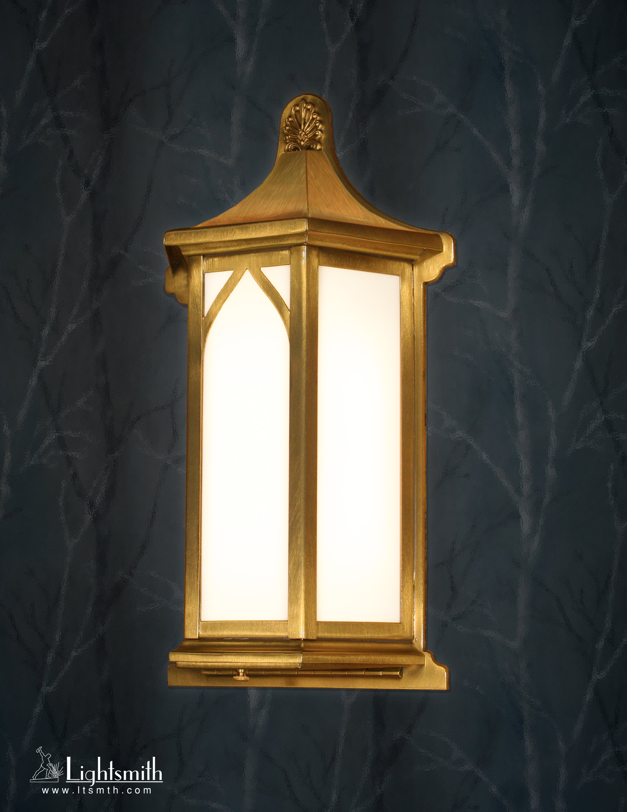 SC-11610 - Satin Brass - White Opal Acrylic
