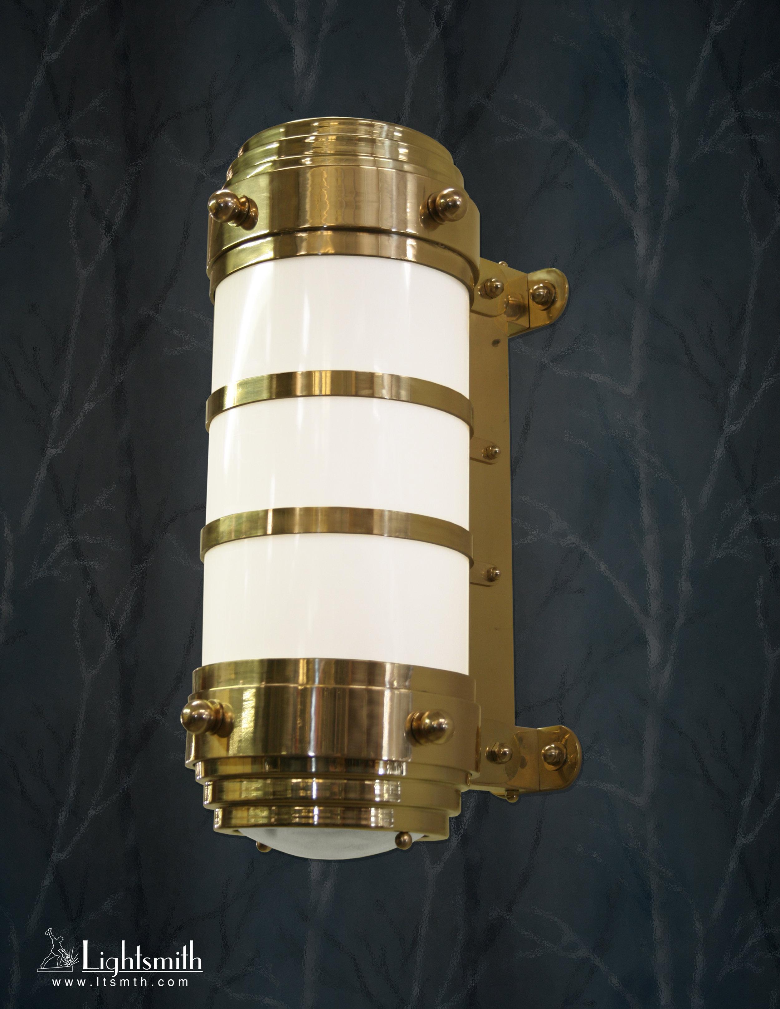 SC-11710 - Polished Brass - White Opal Acrylic