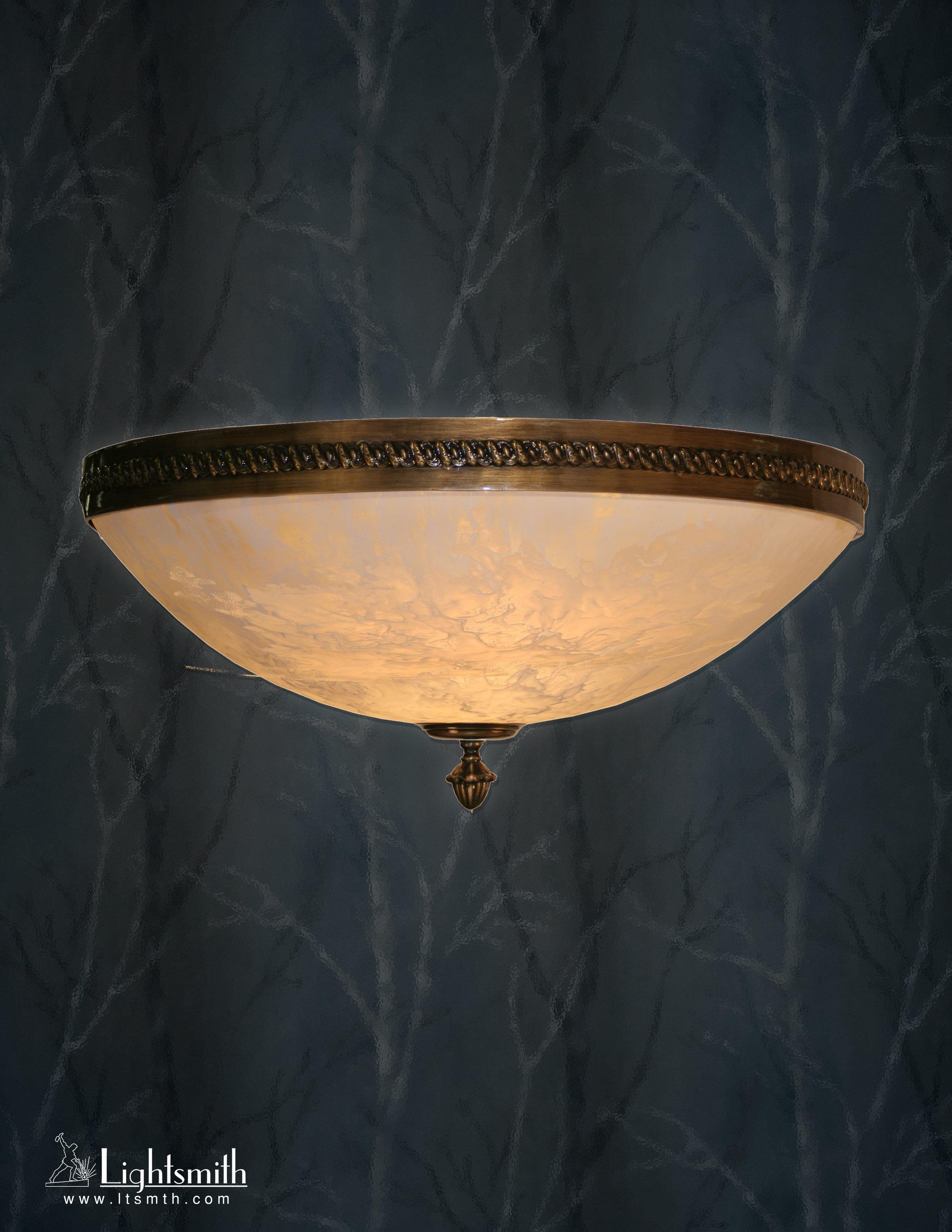 SC-4110 - Antique Brass - Beige Alabaster Acrylic