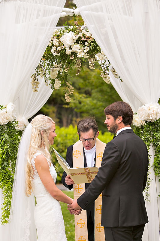 Circular Altar Structure and Florals