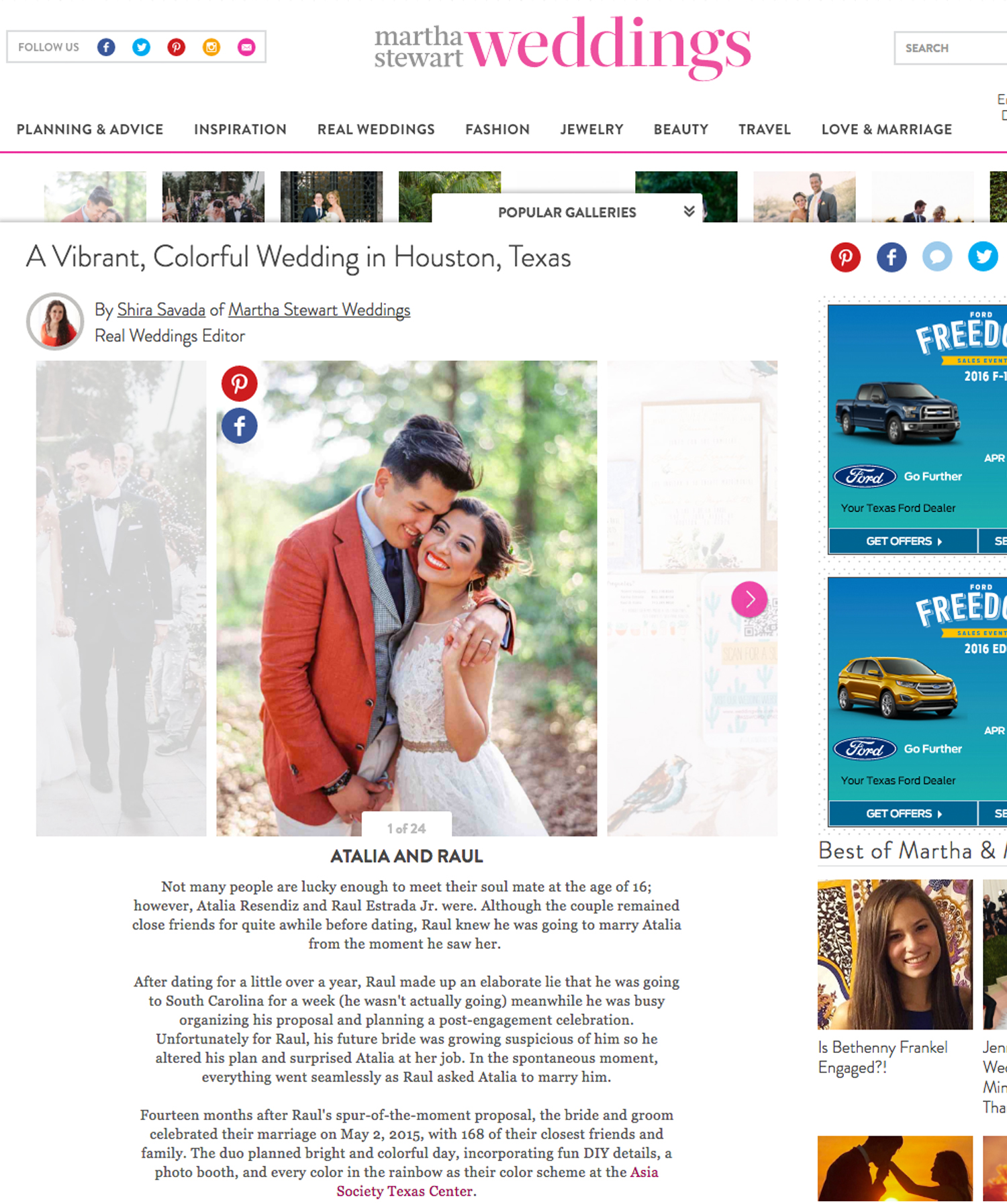 Martha Stewart | Dec '15 (Wedding)