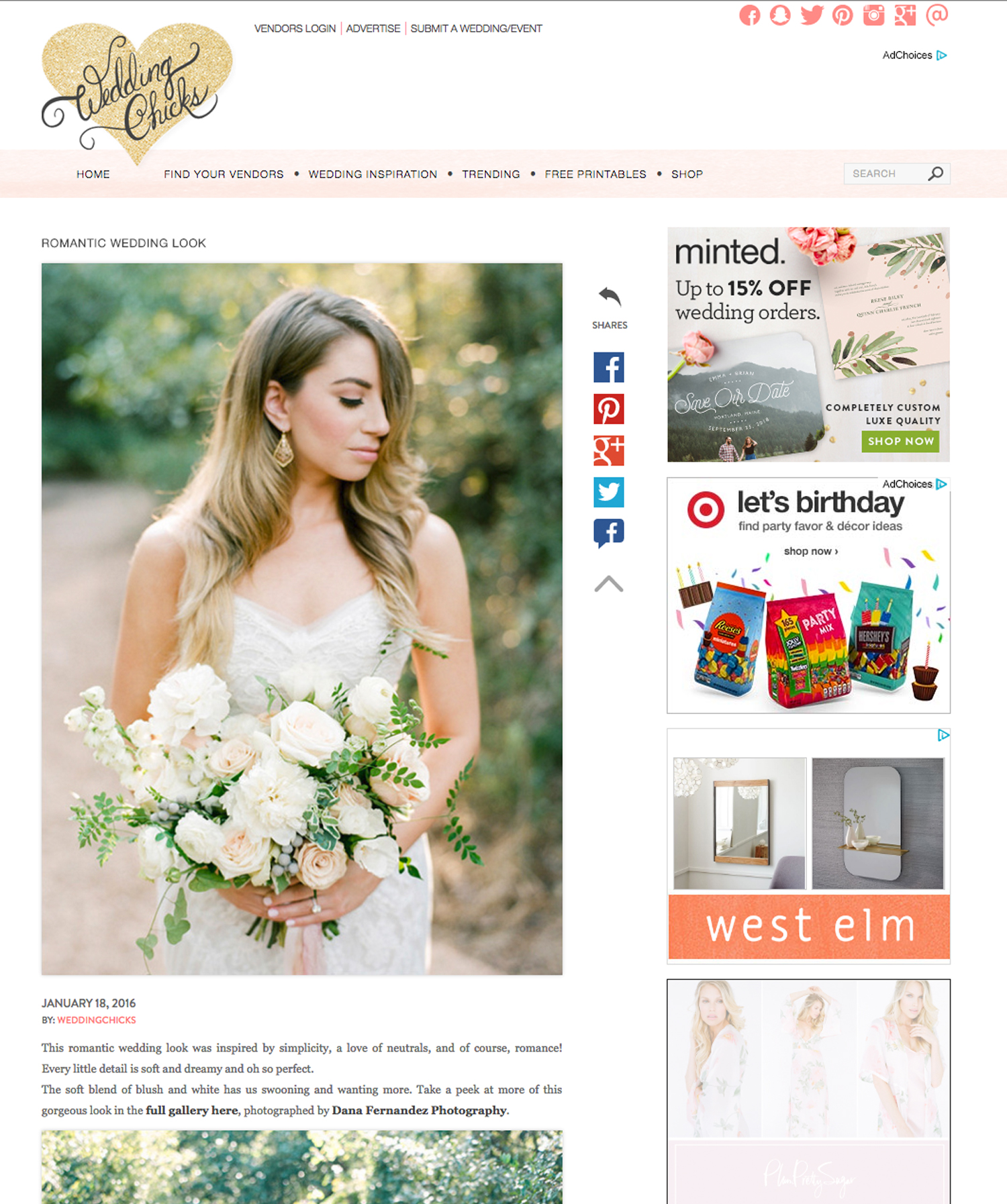 Wedding Chicks | Jan '16 (Editorial)