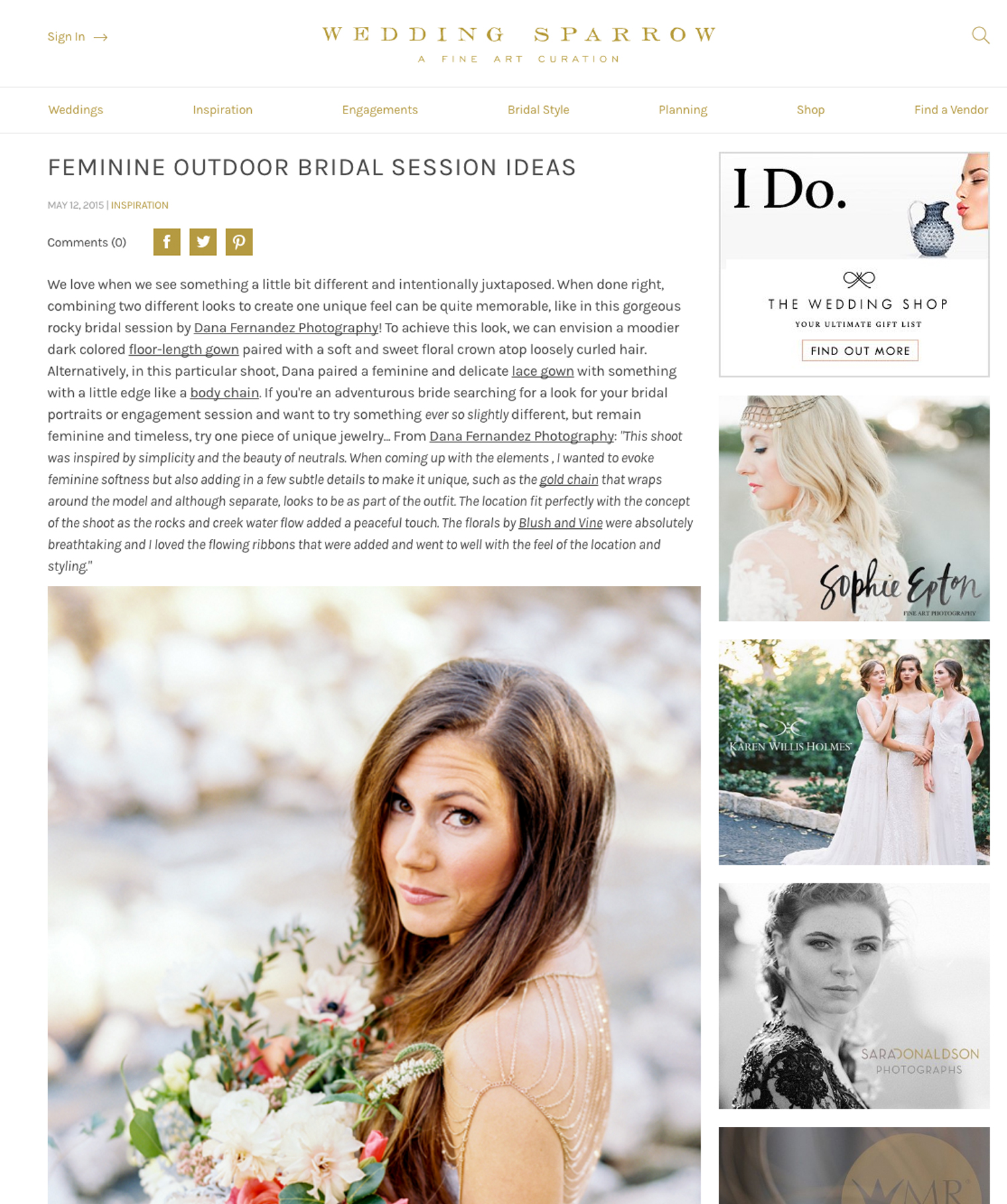 Wedding Sparrow | May '15 (Editorial)