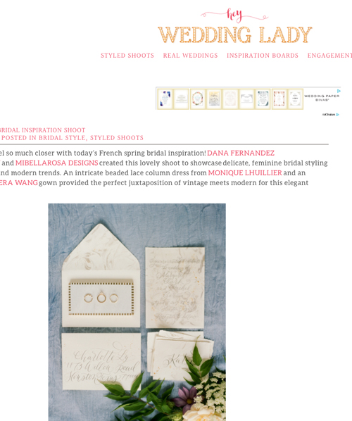 Hey Wedding Lady | Jan '17 (Editorial)