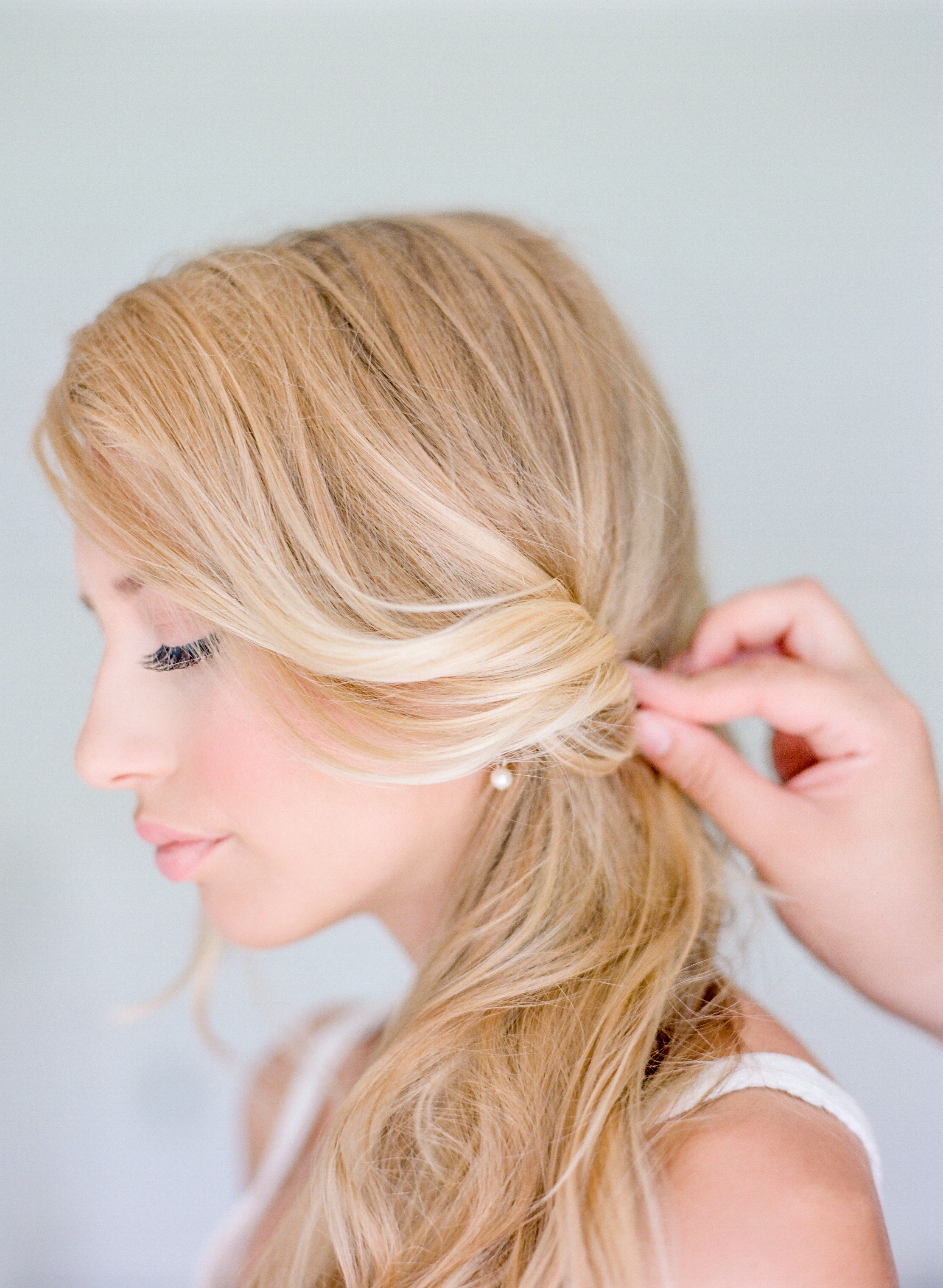 STEP THREE | Pin the bottom twisted pieces of hair loosely