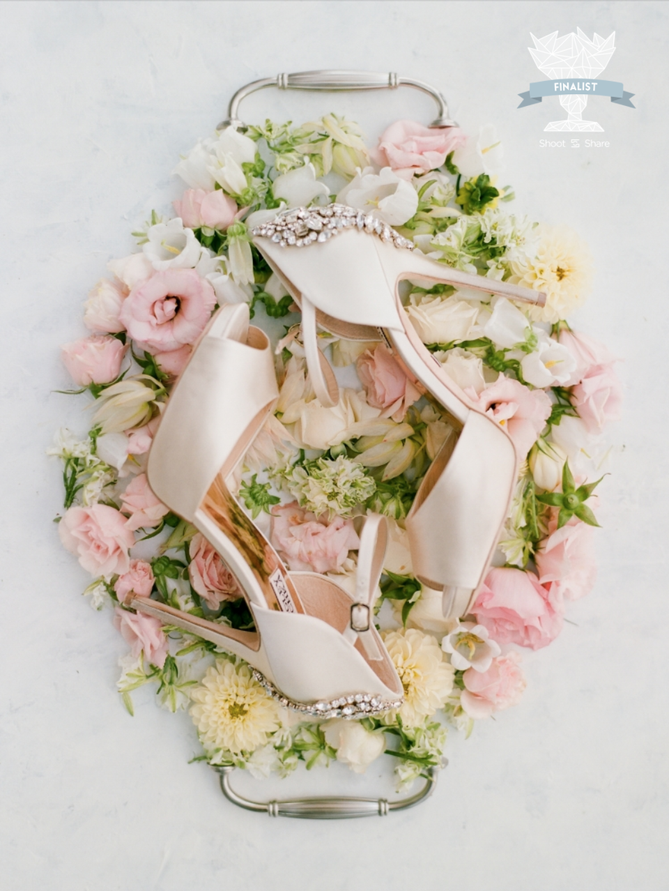 AWARD: FINALIST  (Out of 16.7k entries) |  Design: Jennifer Laura Design, Styling Board: Mibellarosa, Styling: Dana Fernandez Photography, Florals: Bows and Arrows