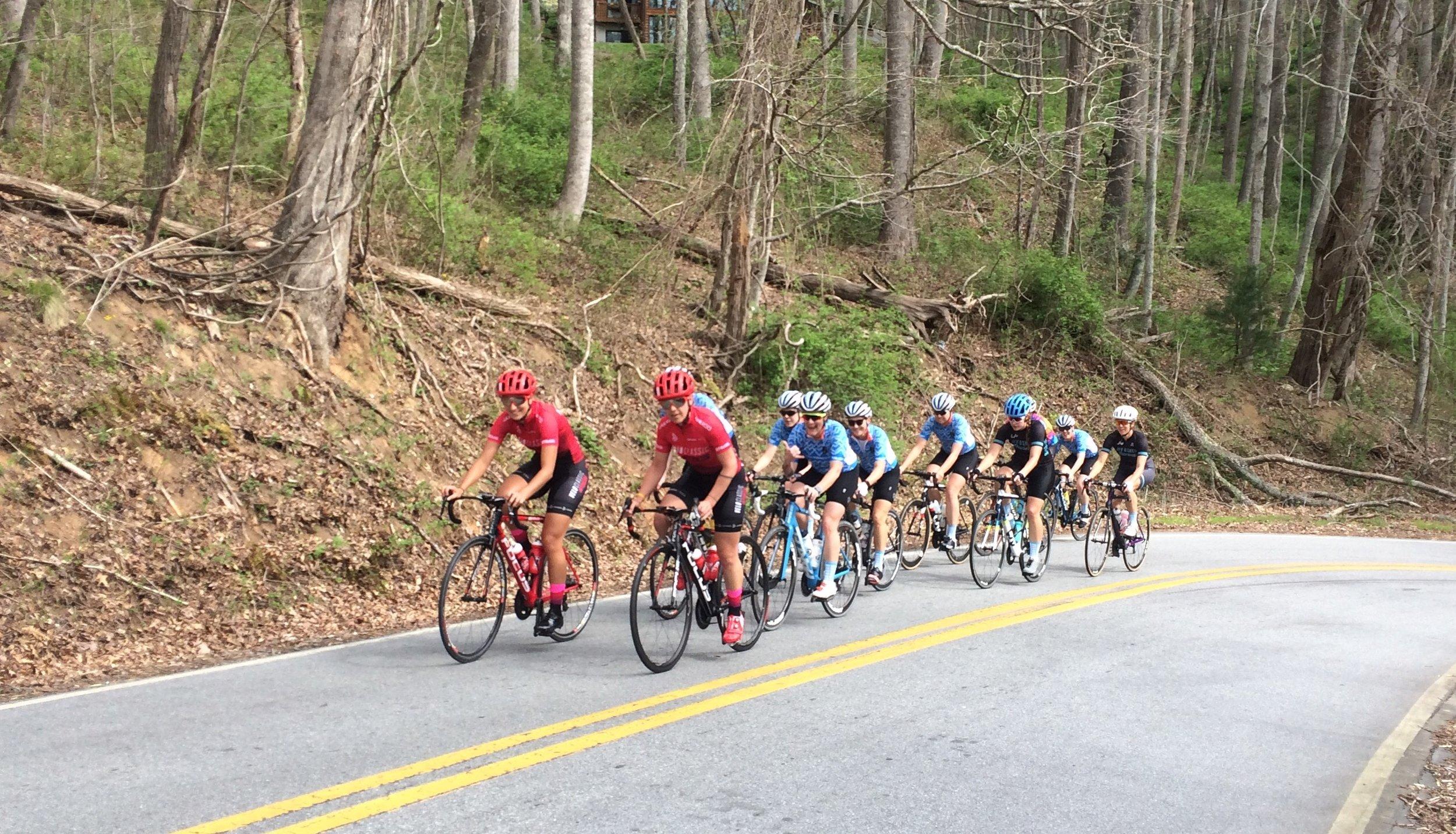 The Chicago Women's Elite Cycling 2017 Training Camp - Coach, Mentor, Ride Leader, Program Organizer: Daphne KaragianisParticipants: 10 women racersLocation: Asheville, NC