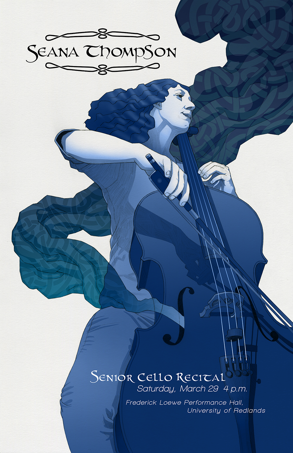 Senior Cello Recital poster