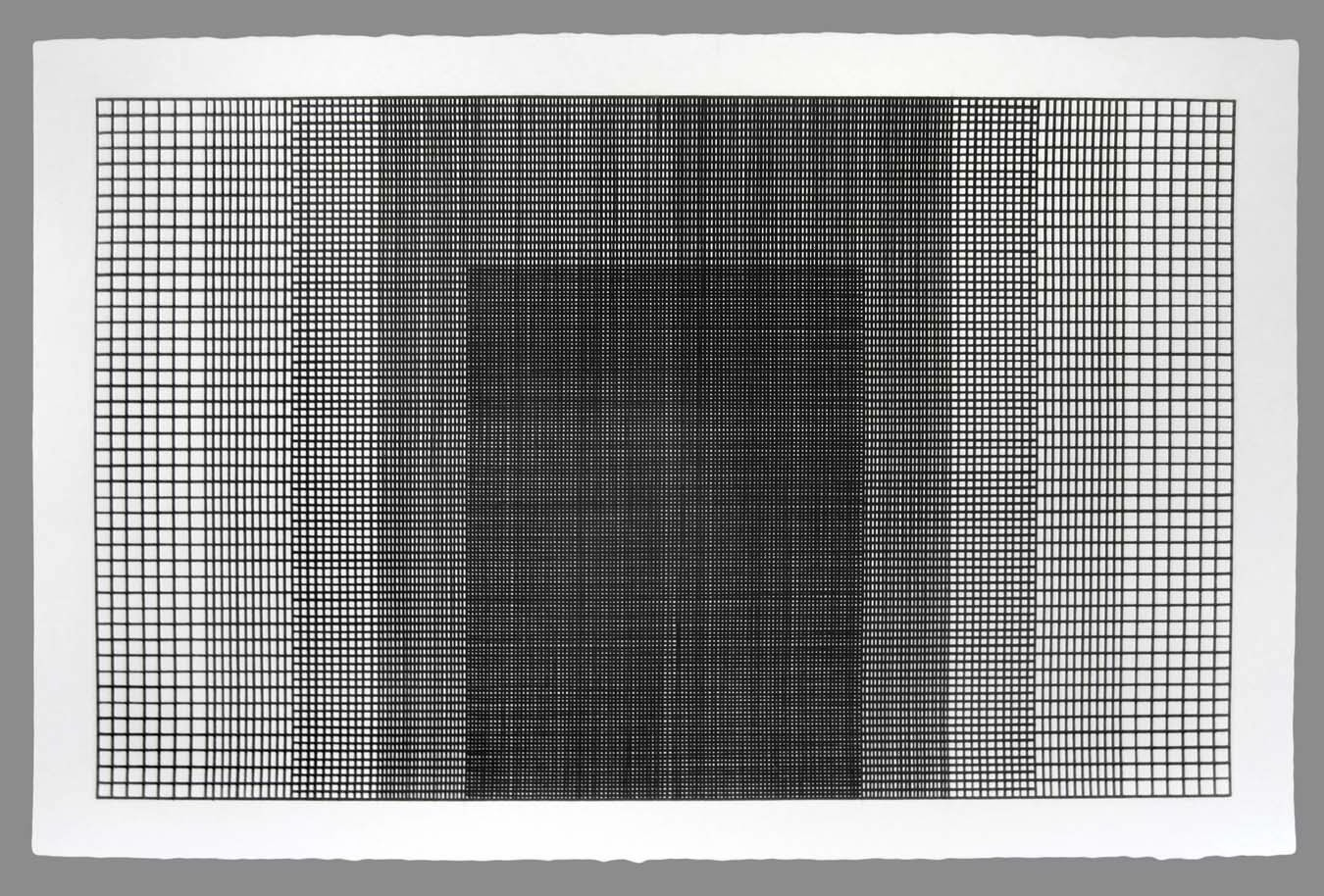 Untitled Grid - Acrylic Paint on Arches Watercolor Paper - 40 x 26 inches