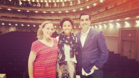 Sarah Elizabeth Charles on the day of one of Carnegie Hall performances, May 2016