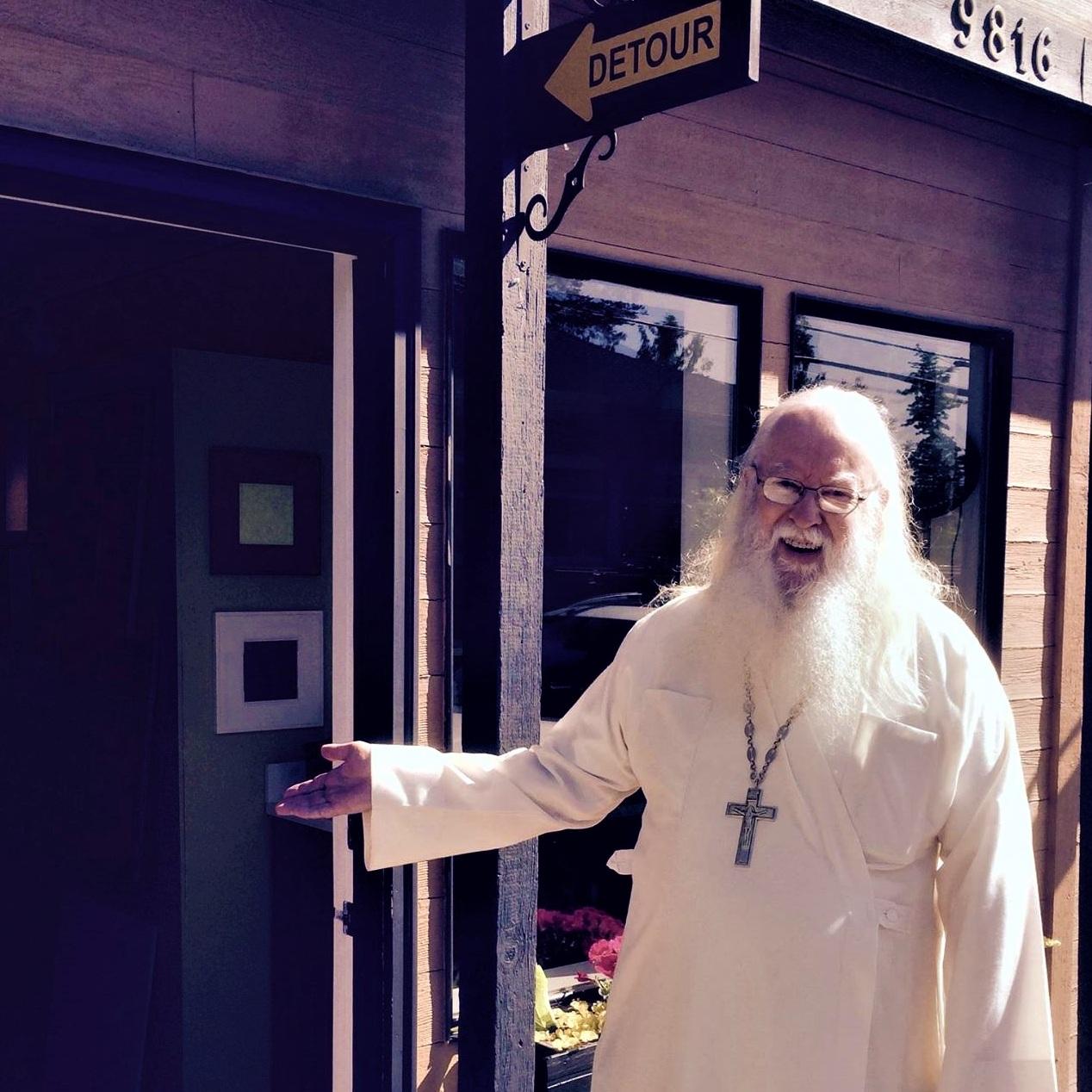Fr. Tryphon as my un-official door greeter.