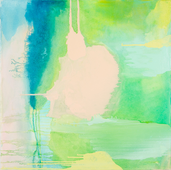 Islands II , 2013, oil on canvas, 30 x 30 inches.