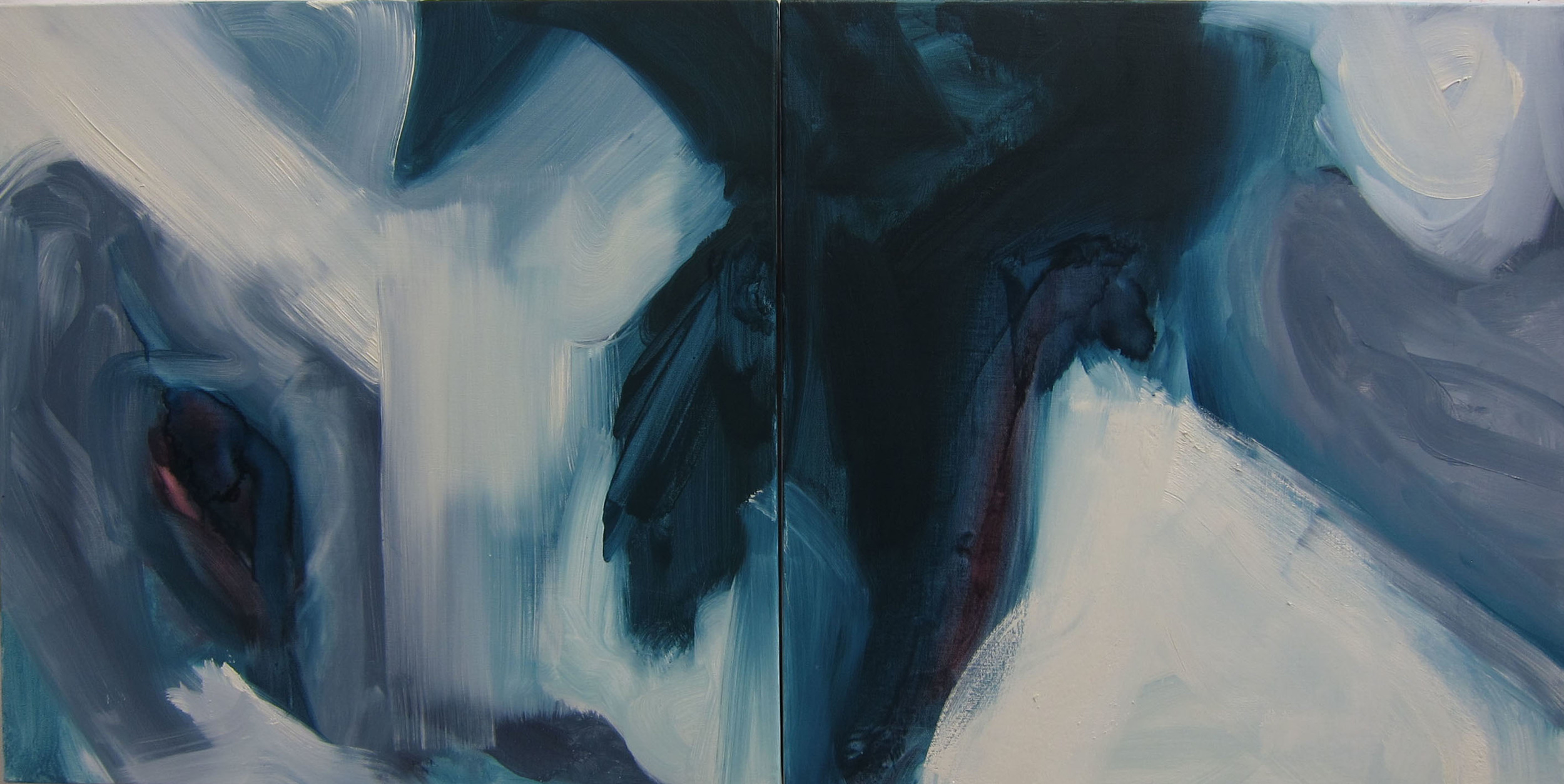Memory of a Place, 2013, oil on canvas, 20 x 20 inches each.