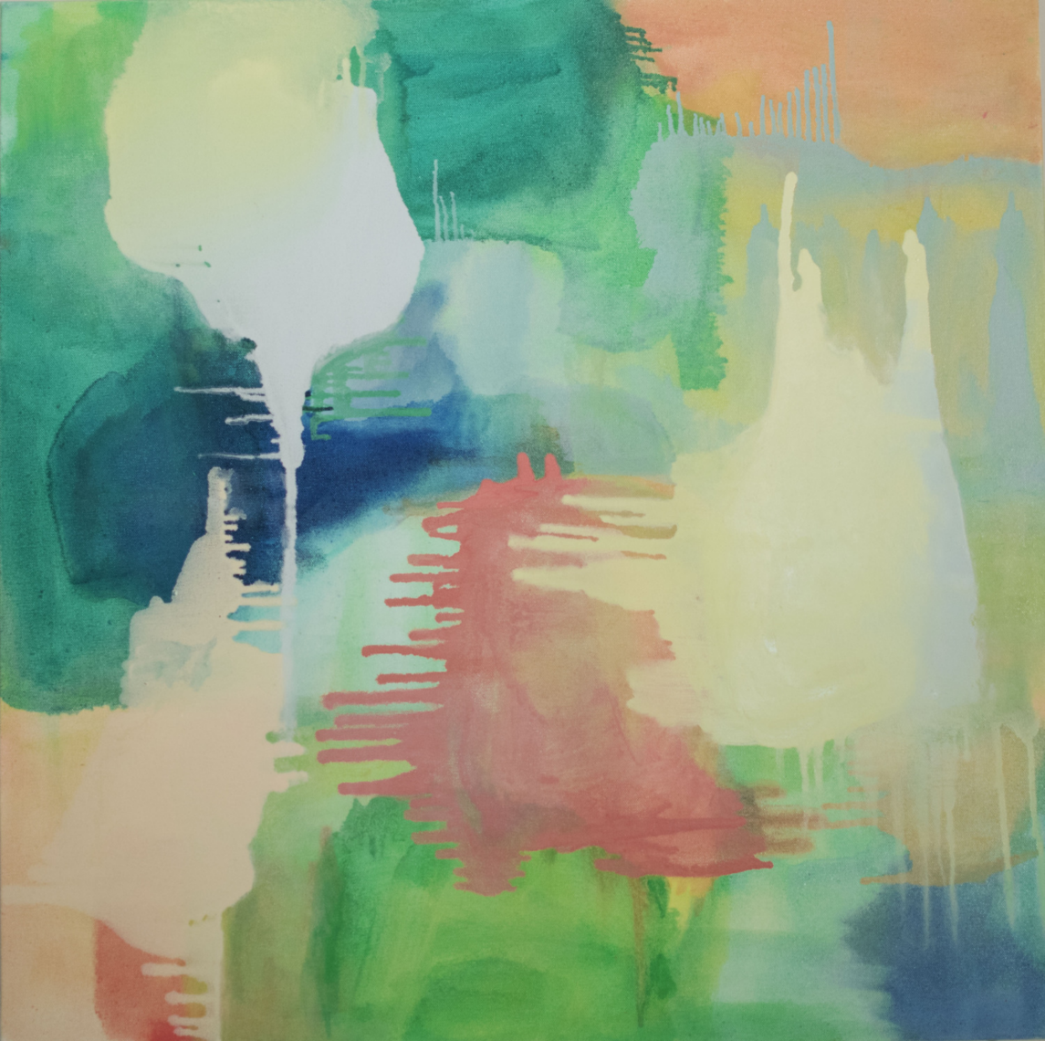 Islands of Summer II , 2014, oil on canvas, 30 x 30 inches.