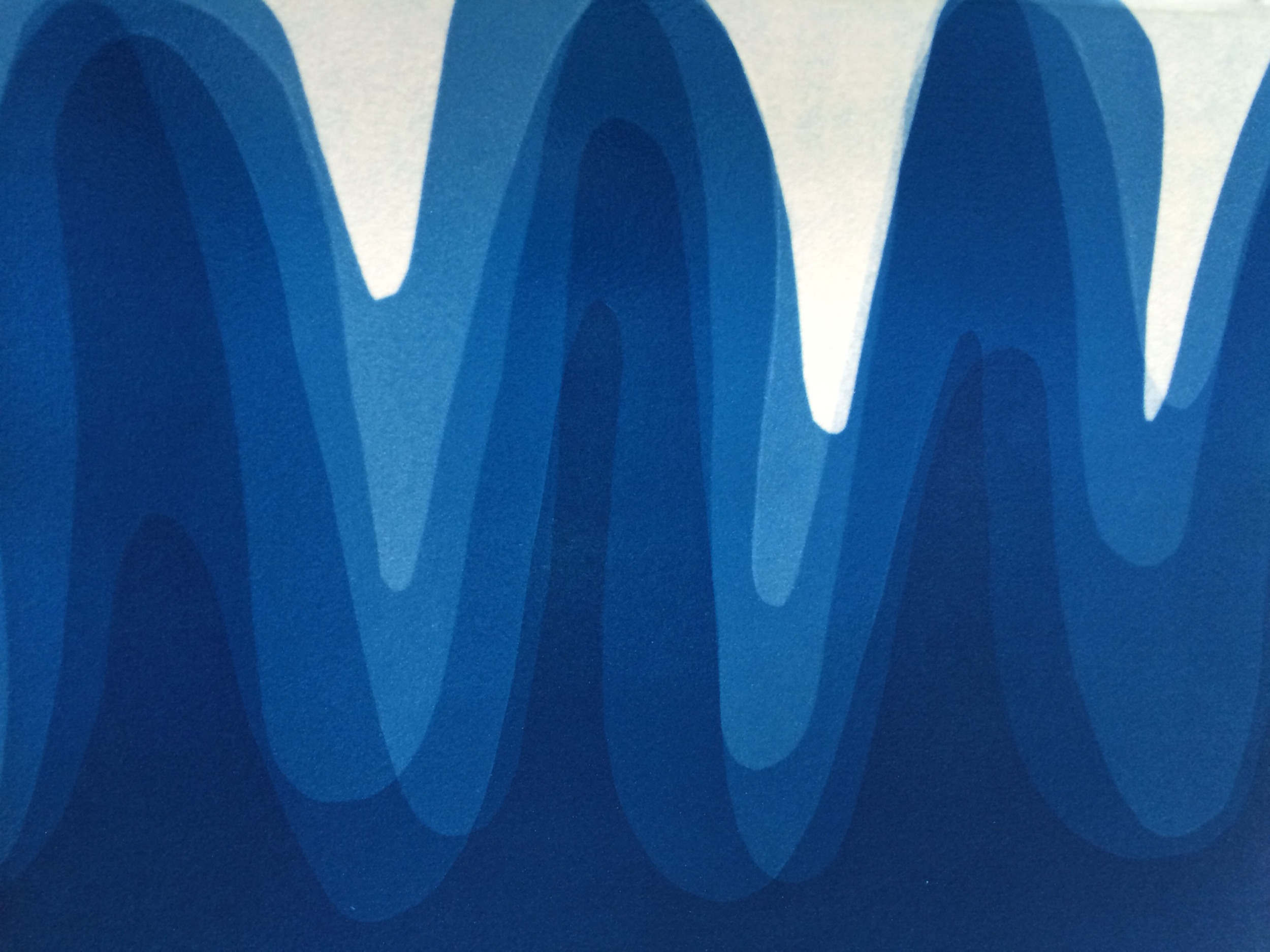 Waves I , 2014, Cyanotype on Arches paper, 12 x 15 inches
