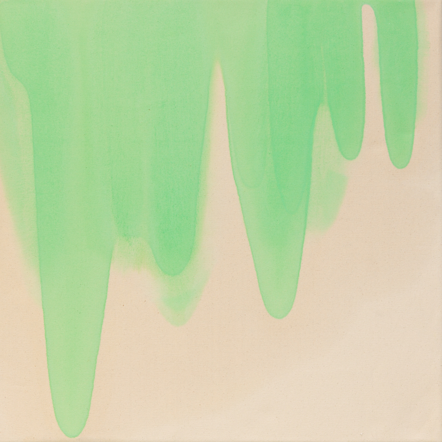 Slime Pour , 2014  Oil on canvas  30 x 30 inches