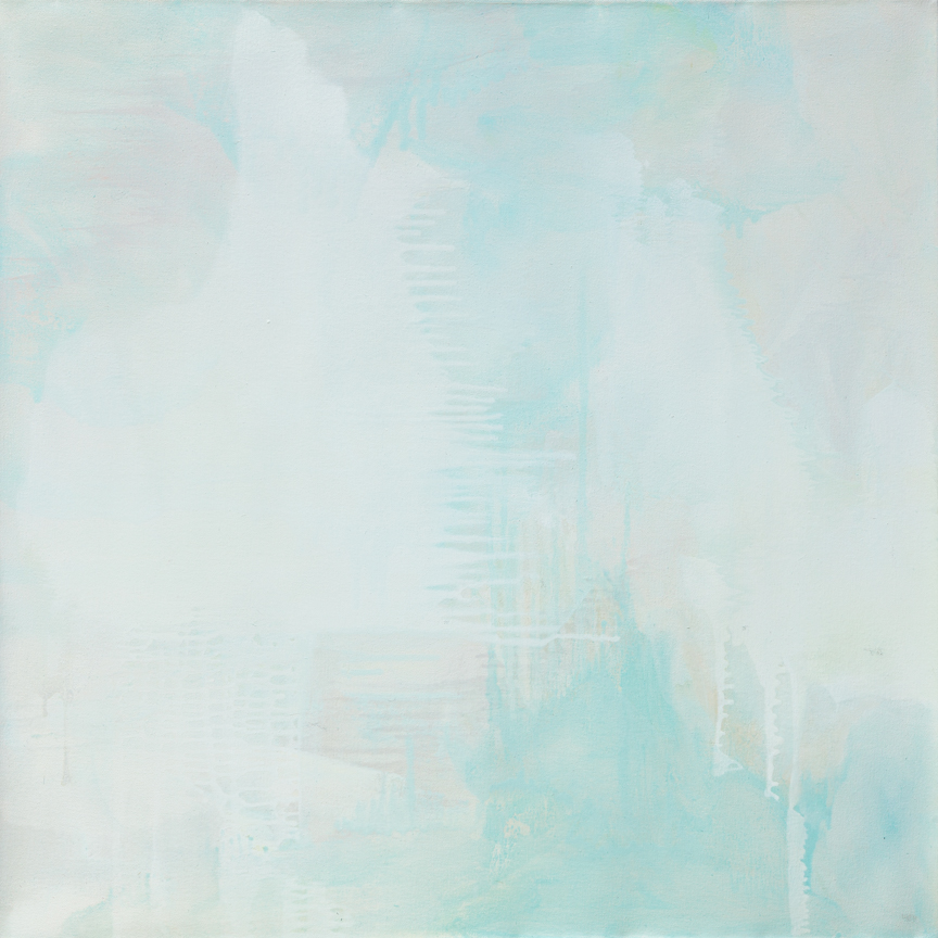 White on White Islands , 2014  Oil on canvas  30 x 30 inches