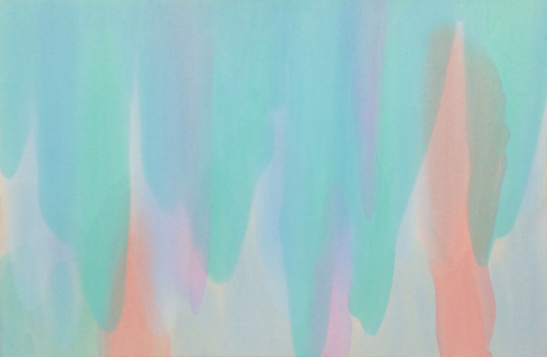 Sea Foam Cascade , 2015  Oil on canvas  34 x 52 inches