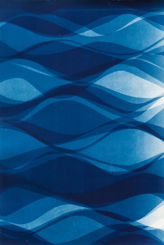 Currents A [12.5.2014]  Cyanotype on Arches paper 22 x 15 inches