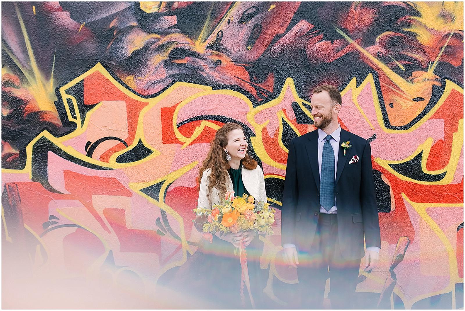 DTLA Brunch Wedding: Featured on  Green Wedding Shoes