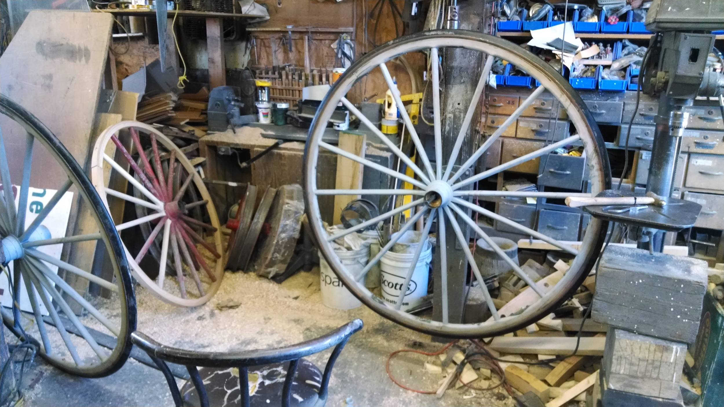 Buggy wheels destined for San Diego.
