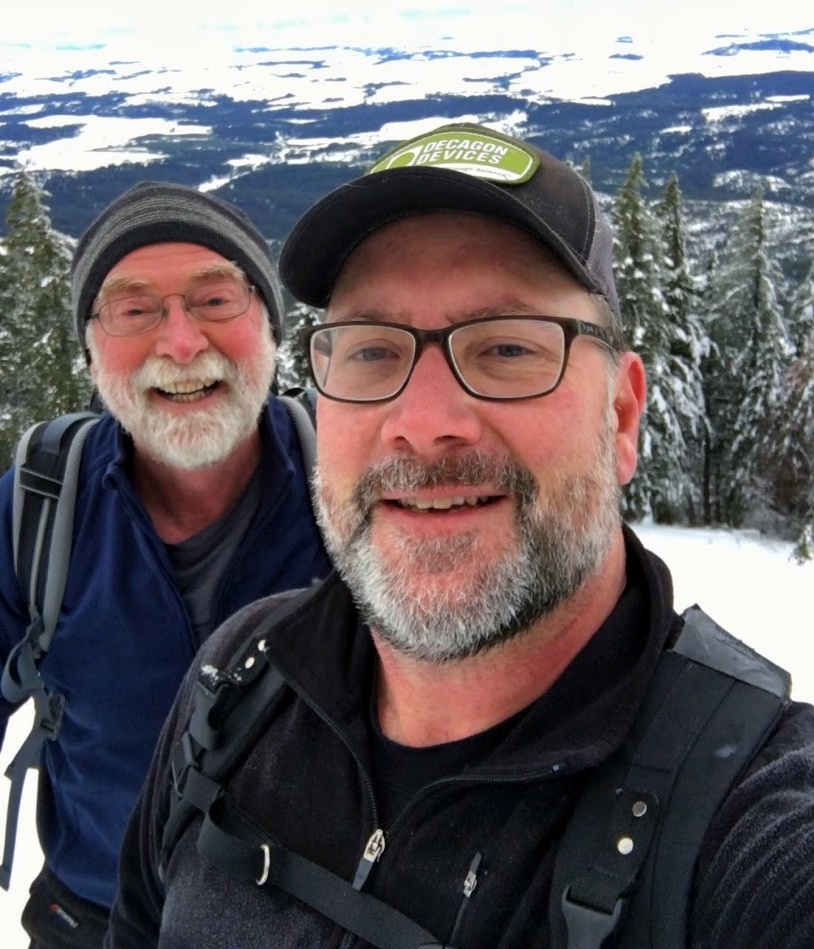 Richard and me on the top of Tamarack Butte, Idaho. Wonderful time.