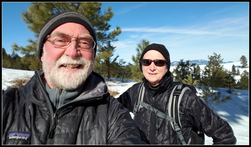 Snowshoeing with the sweety.