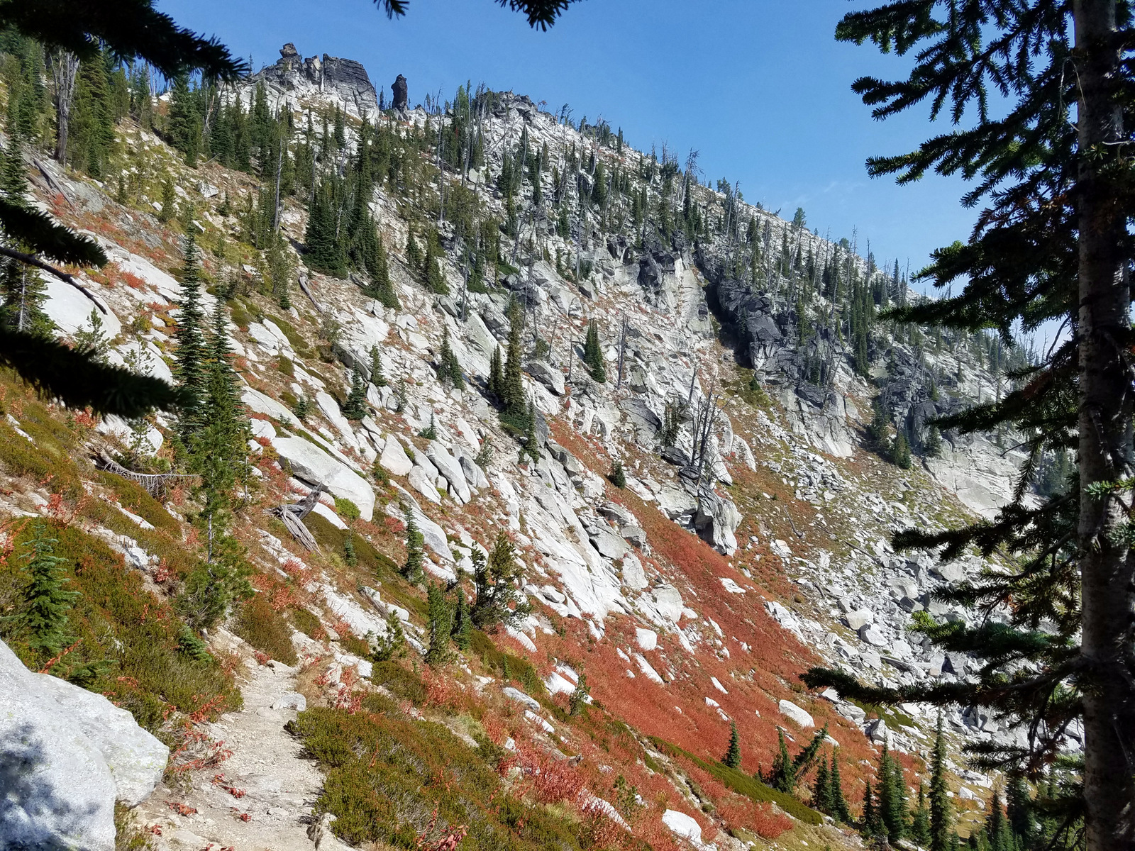 Steep Trail to Friday Pass