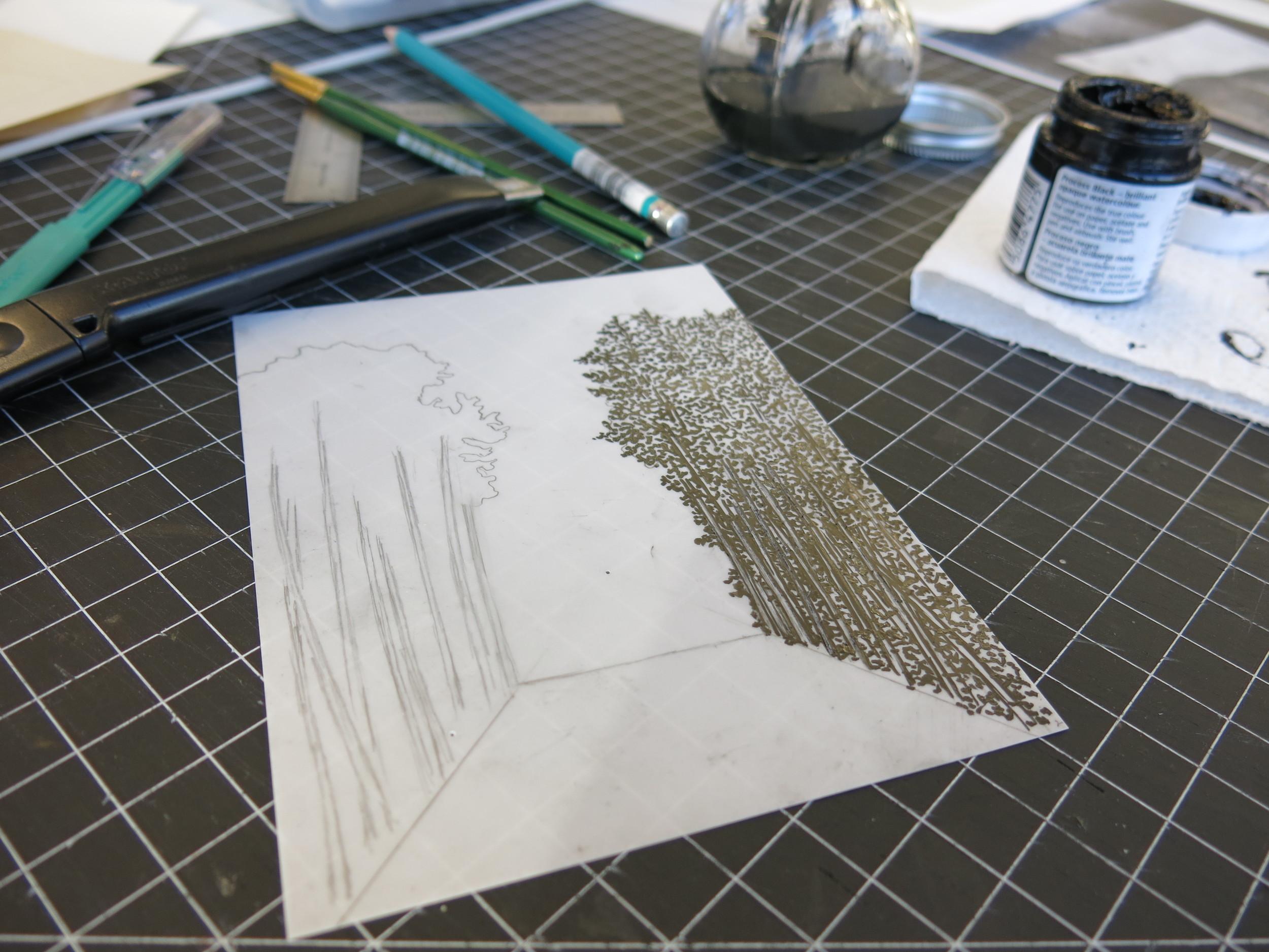 Film ink on Yupo painting.