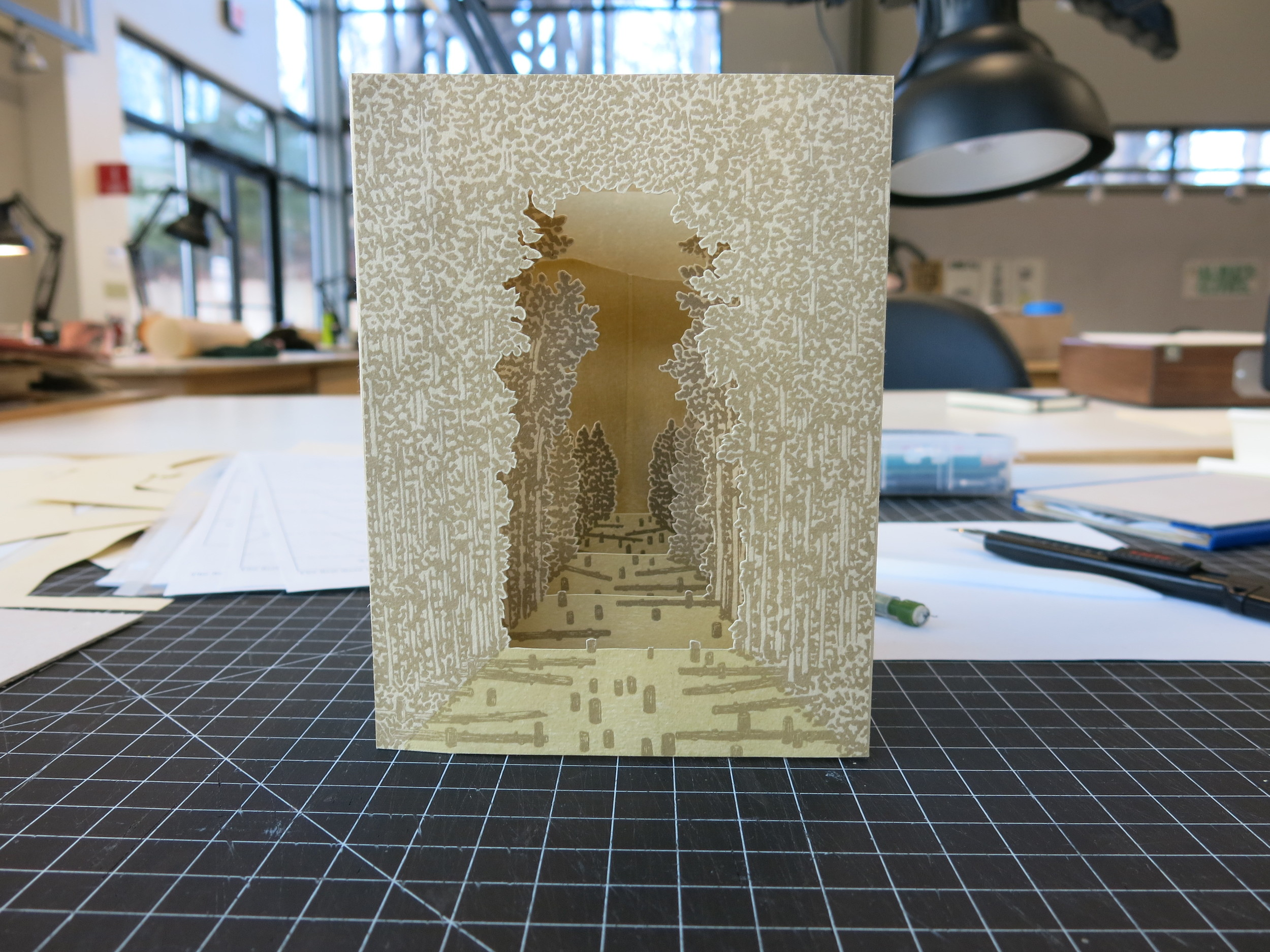Tunnel book structural mock-up.